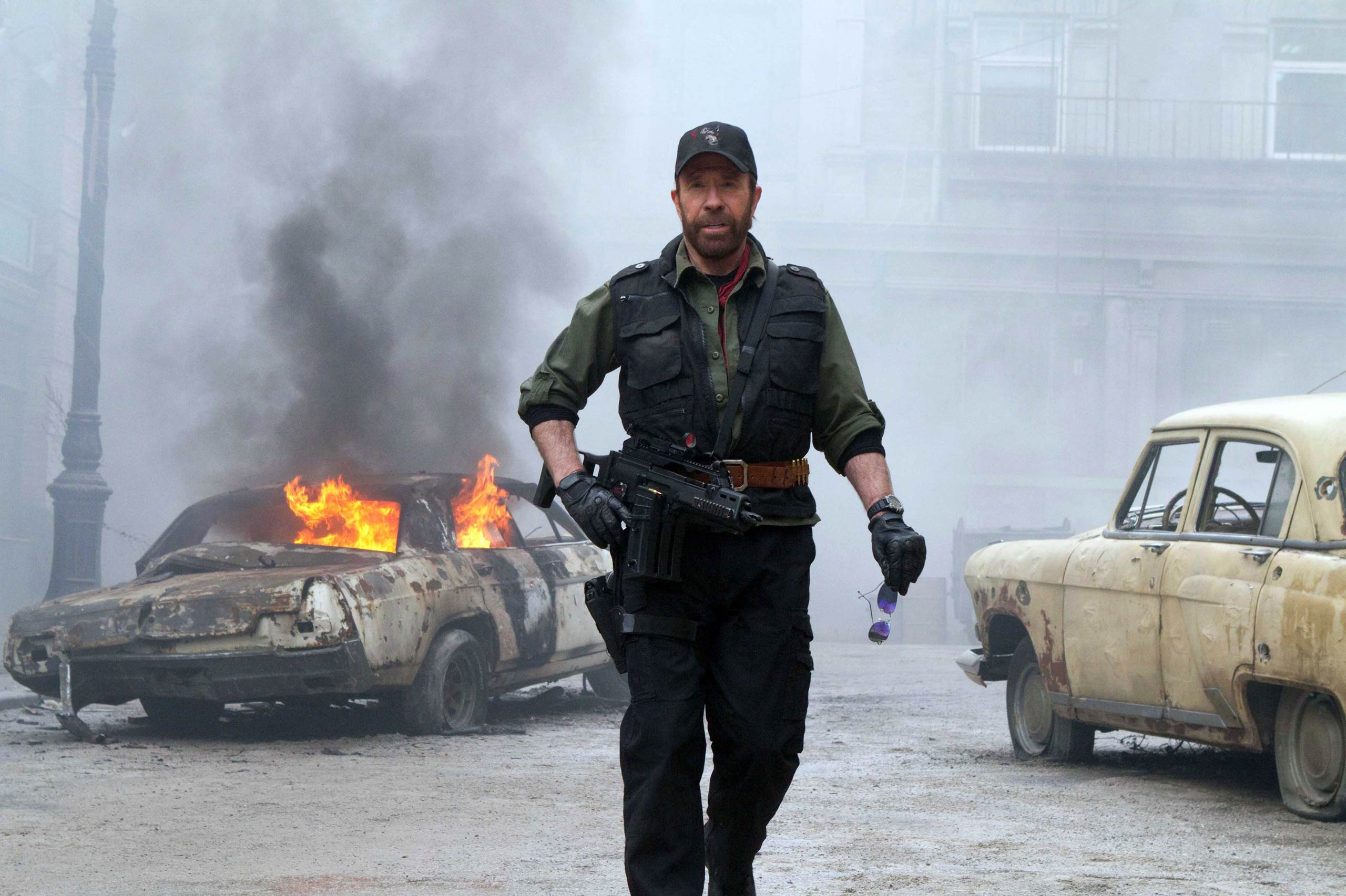 Chuck Norris as Booker in The Expendables 2, 2012.