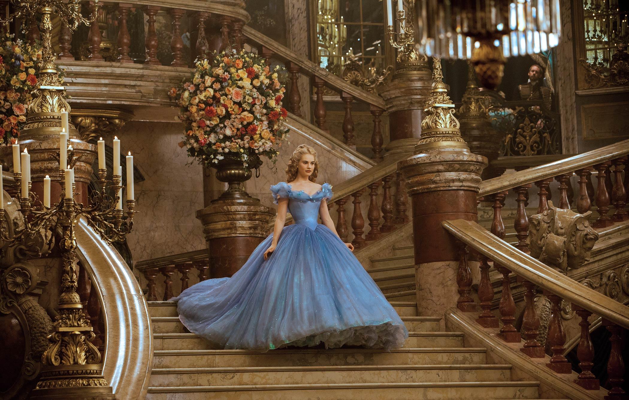 Lily James stars as Cinderella in Disney's live-action movie Cinderella