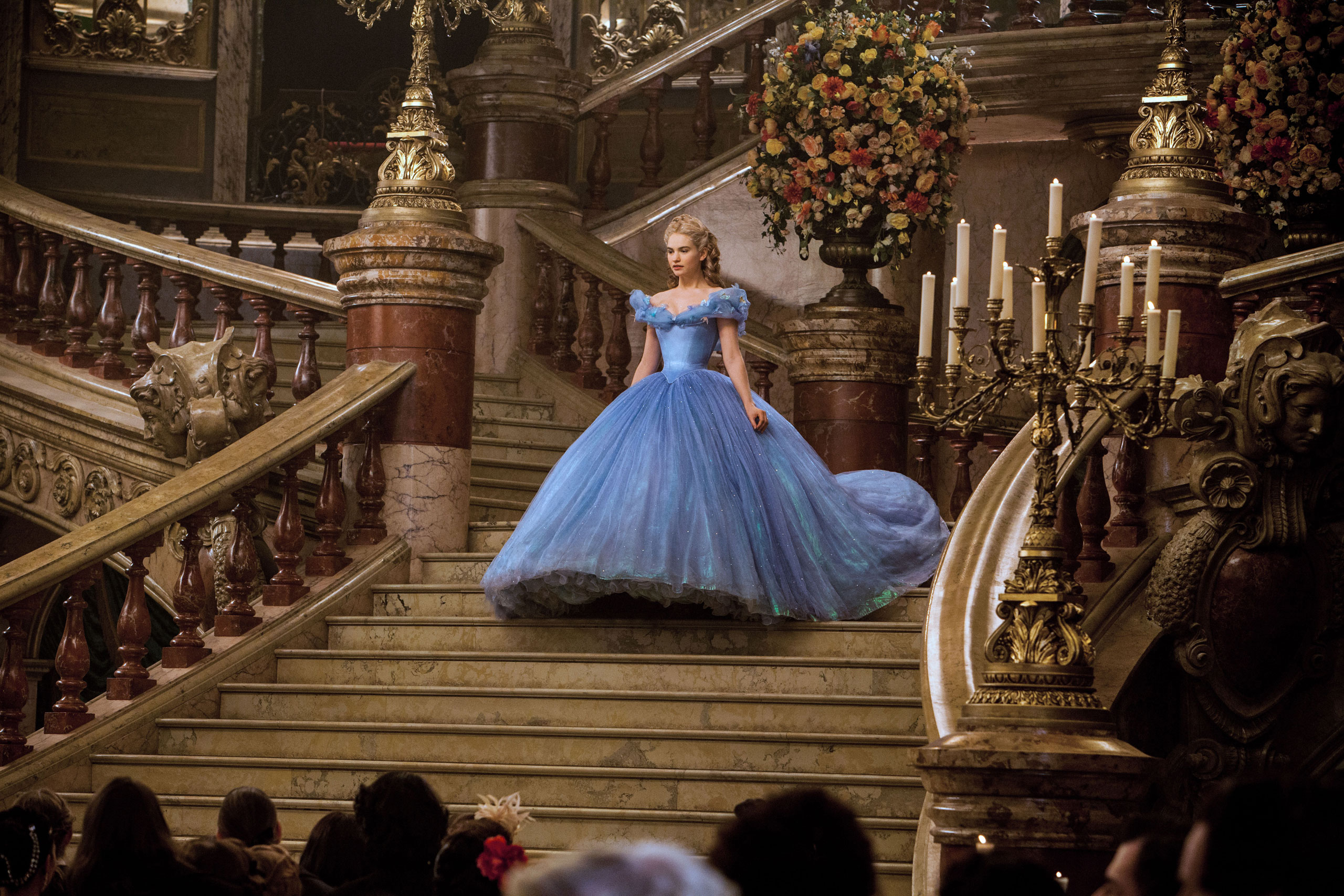Lily James is Cinderella in Disney's live-action feature Cinderella.