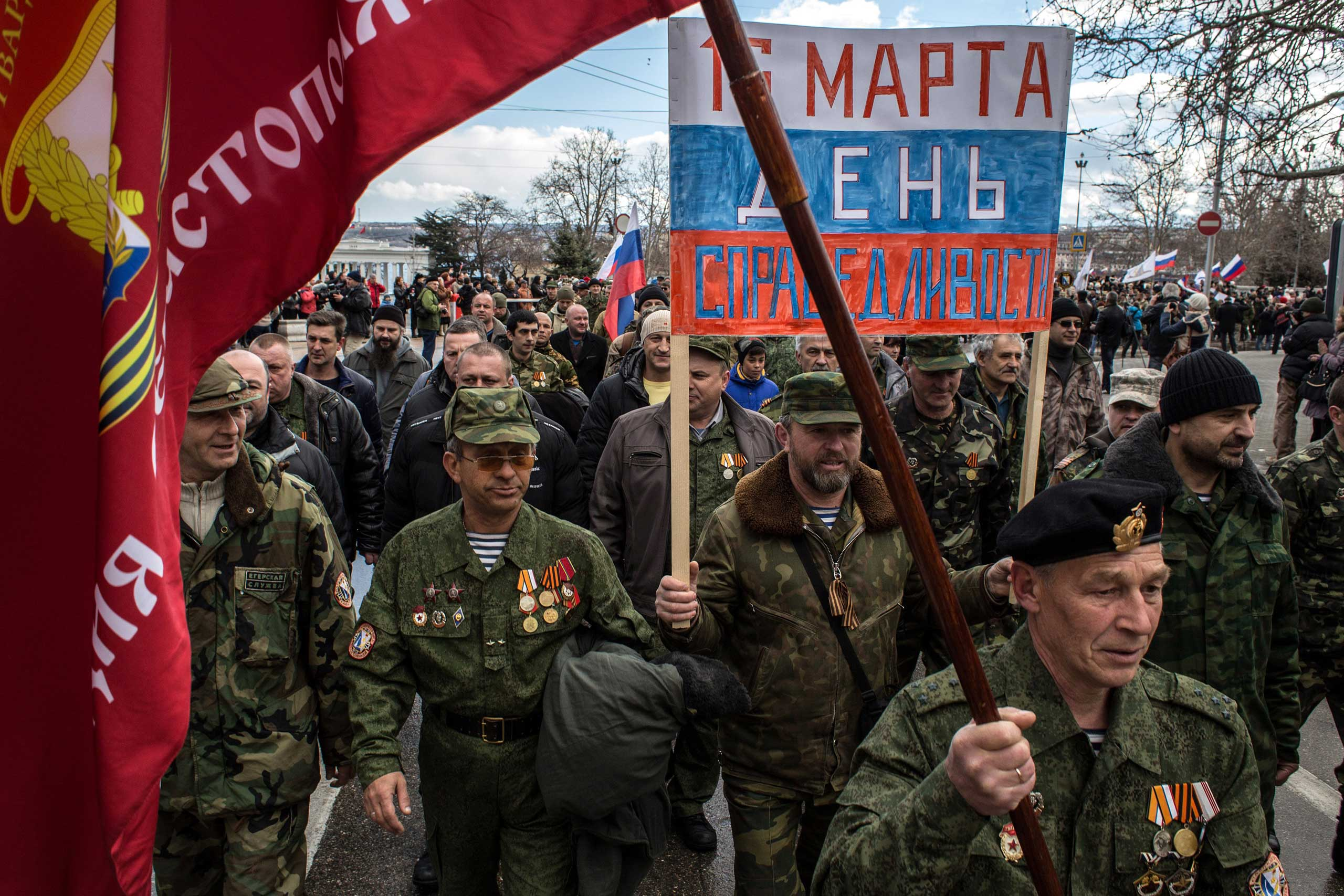 Anniversary celebrations in Sevastopol, March 18, 2015.