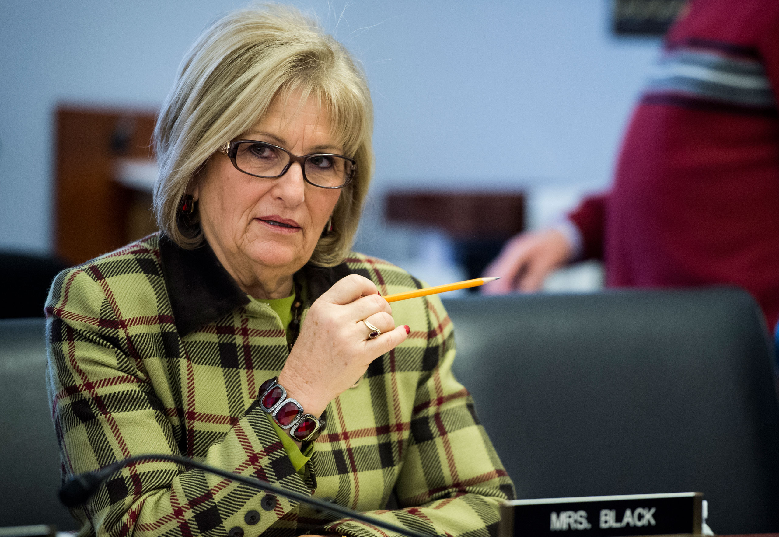 Rep. Diane Black takes her seat for the House Budget Committee hearing on  The Congressional Budget Office's (CBO) Budget and Economic Outlook  on  Jan. 27, 2015.