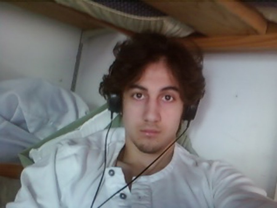 Dzhokhar Tsarnaev is pictured in this photo presented as evidence by the U.S. Attorney's Office in Boston on March 23, 2015.
