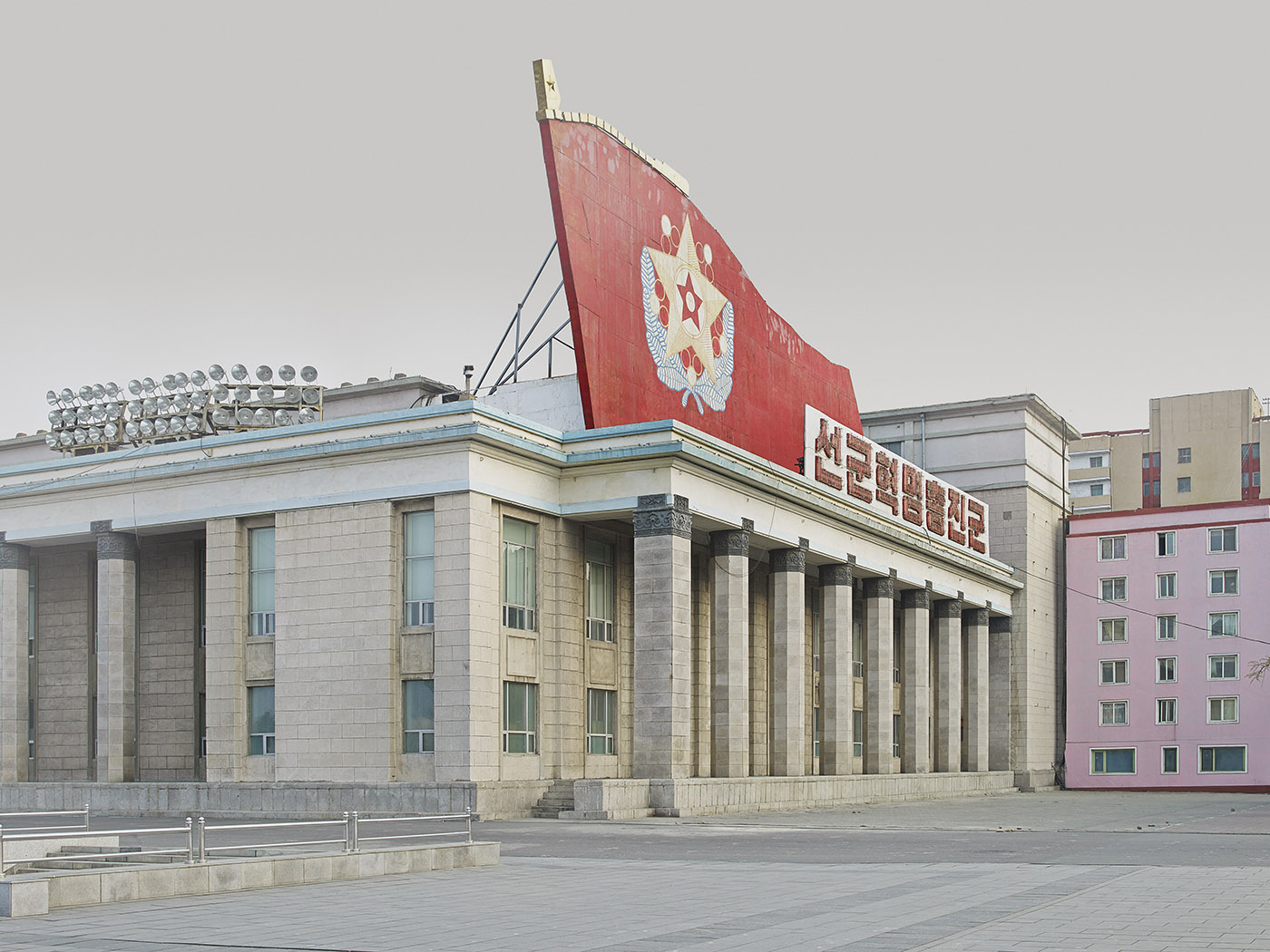 Kim Il Sung Square, Pyongyang.                                   Constructed in the mid-1950s, this square lies in the centre of post-war Pyongyang, and was built in the same style as many of those found in the USSR
