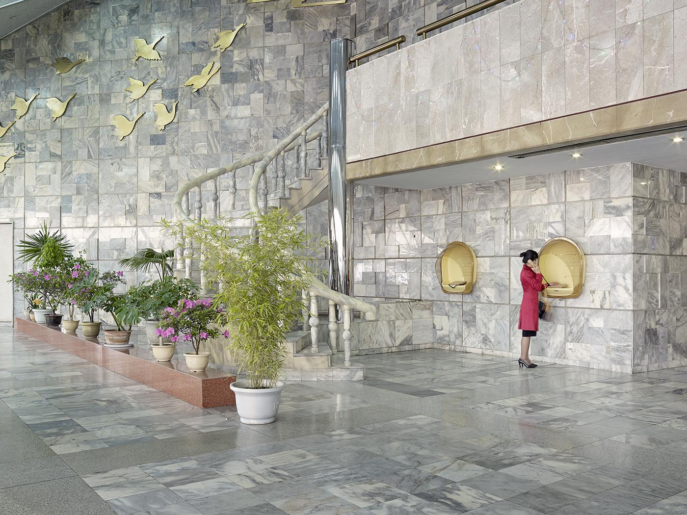 Yanggakdo Hotel on Yanggak Island, Pyongyang rises to 47-storeys.