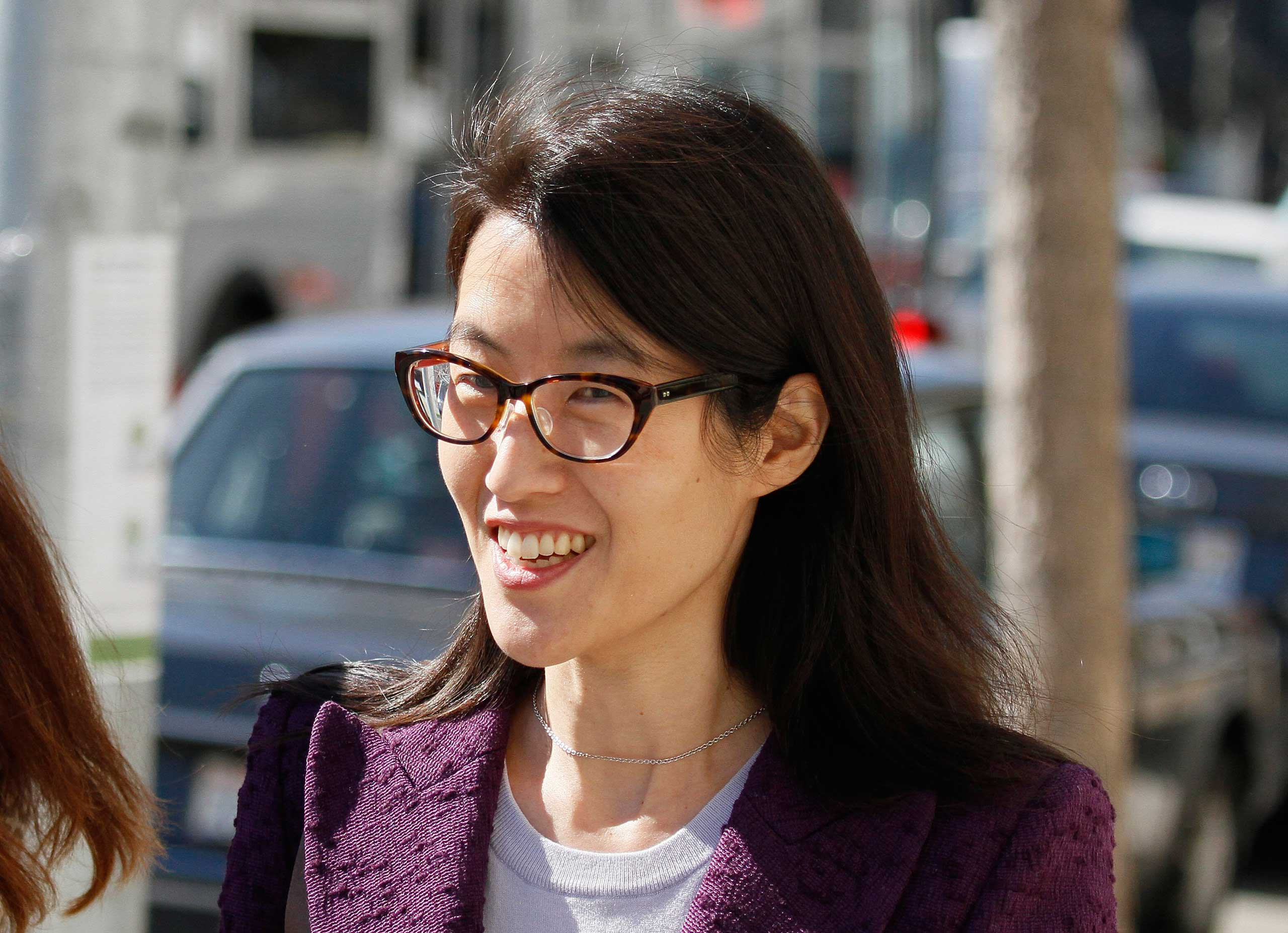 Ellen Pao leaves the Civic Center Courthouse during a lunch break in her trial in San Francisco on Feb. 24, 2015.