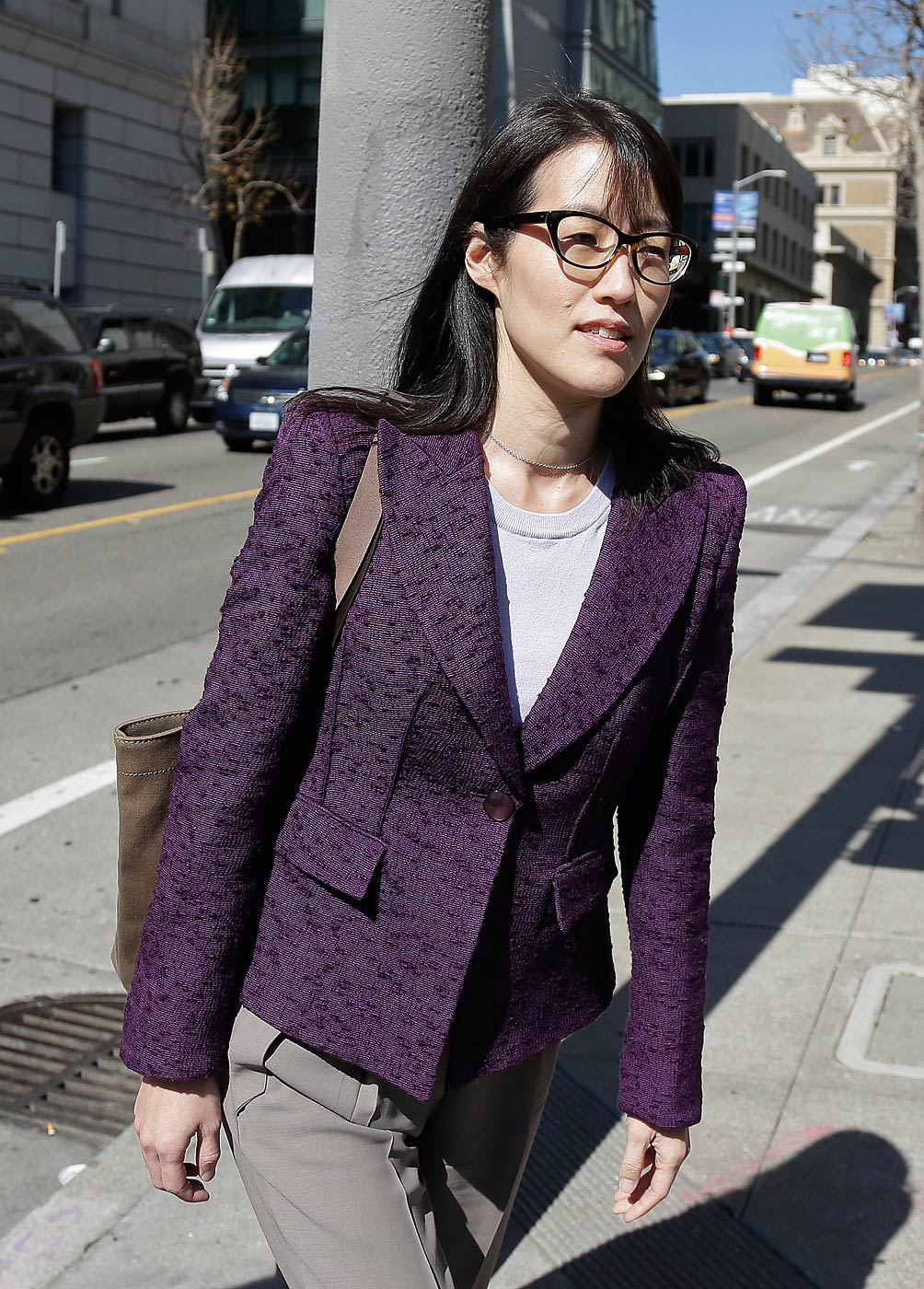 Ellen Pao leaves the Civic Center Courthouse on Feb. 24, 2015, in San Francisco, Calif.