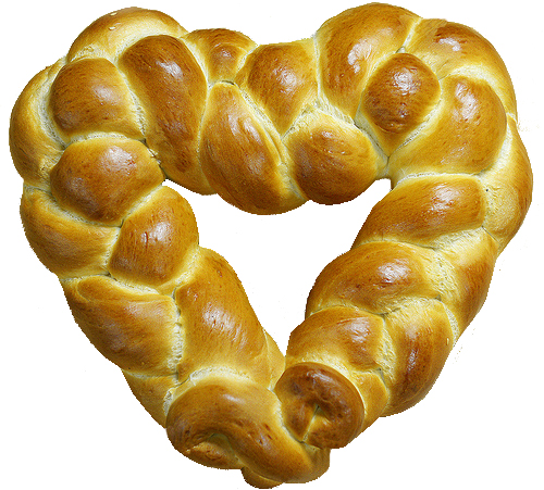 The logo for Shabbatness is a Challah-shaped heart.
