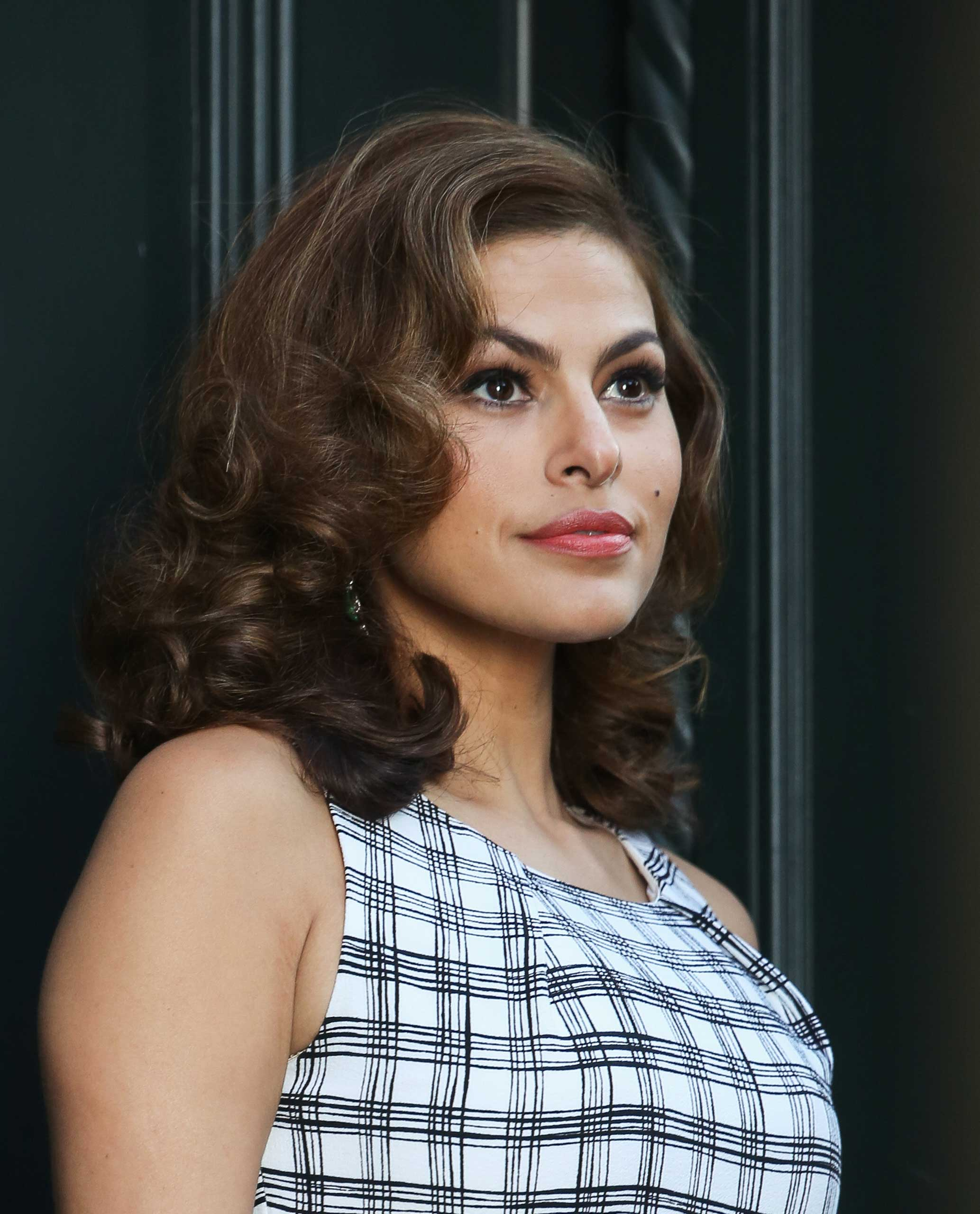 Eva Mendes seen filming a commercial on Feb. 18, 2015 in New York City.