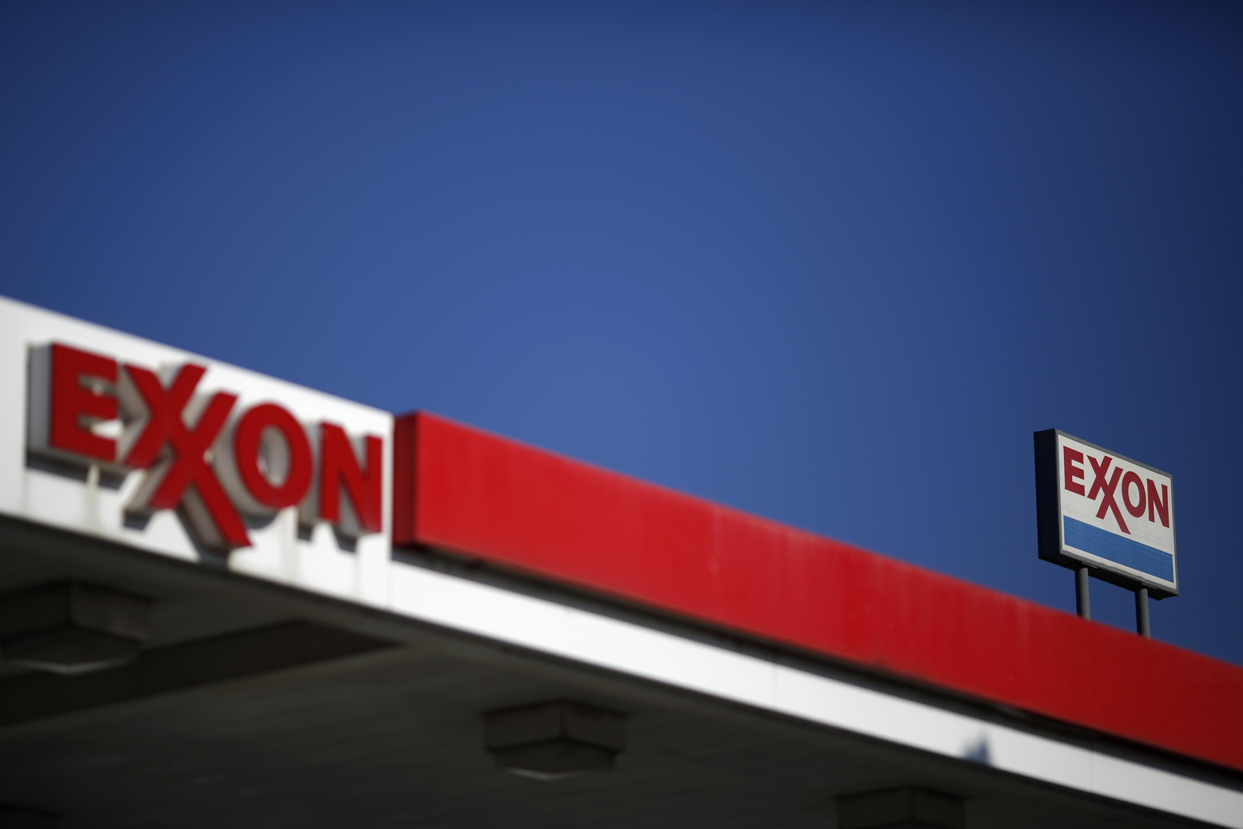 An Exxon Mobil Corp. gas station on Jan. 16, 2015.