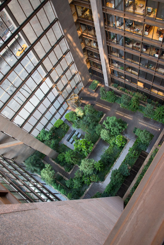 Ford Foundation, 321 East 42nd Street, Manhattan. Photograph by Larry Lederman © All rights reserved.