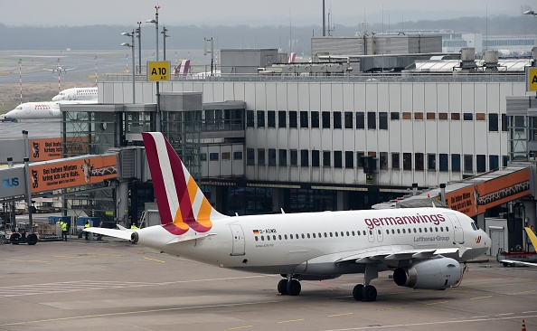 An Airbus A320 of the German airline Germanwings arrives at the Dusseldorf airport, in Germany, on March 25, 2015.