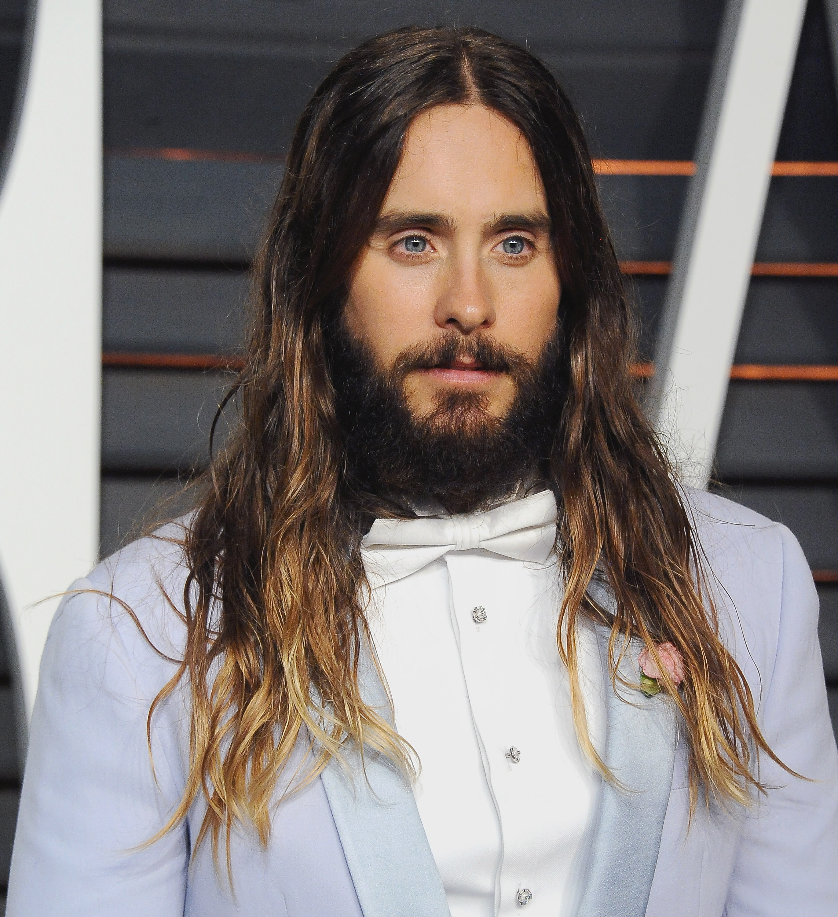 Jared Leto arrives at the 2015 Vanity Fair Oscar Party Hosted By Graydon Carter in Beverly Hills, Calif. on Feb. 22, 2015.