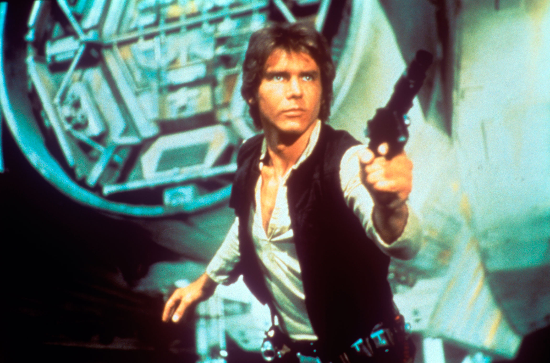 Harrison Ford as Han Solo in Star Wars, 1977.