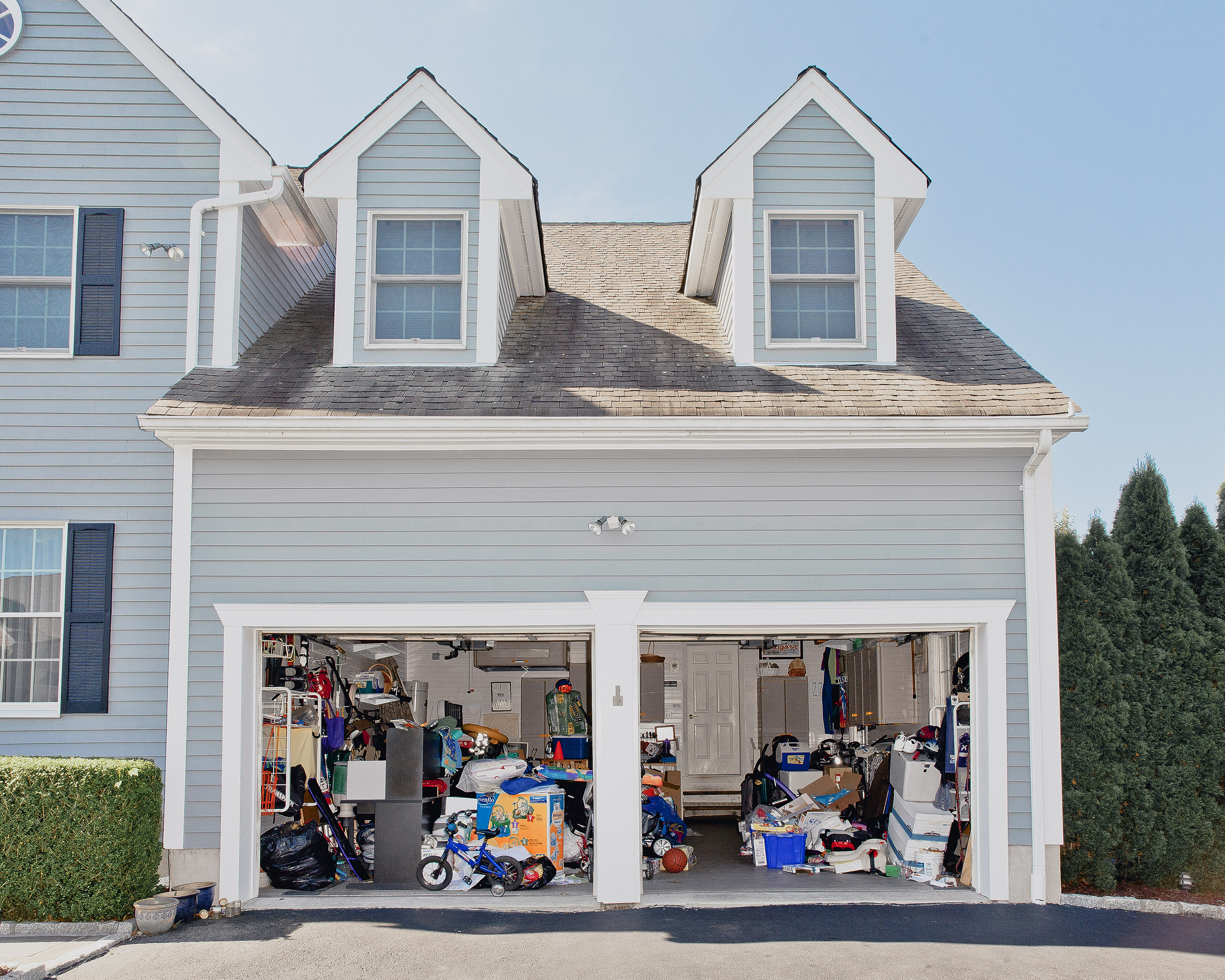 Three-quarters of garages surveyed in one study were so full, homeowners  couldn't park their cars inside.
