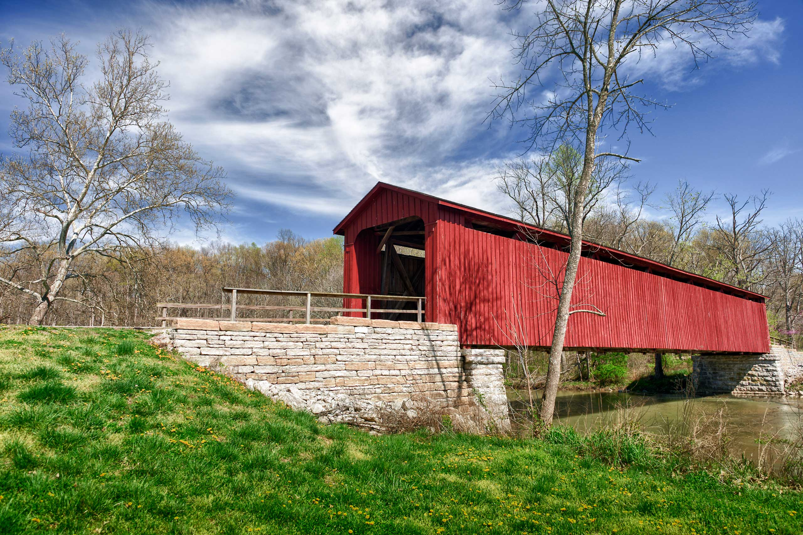 I mean, look at that covered bridge.