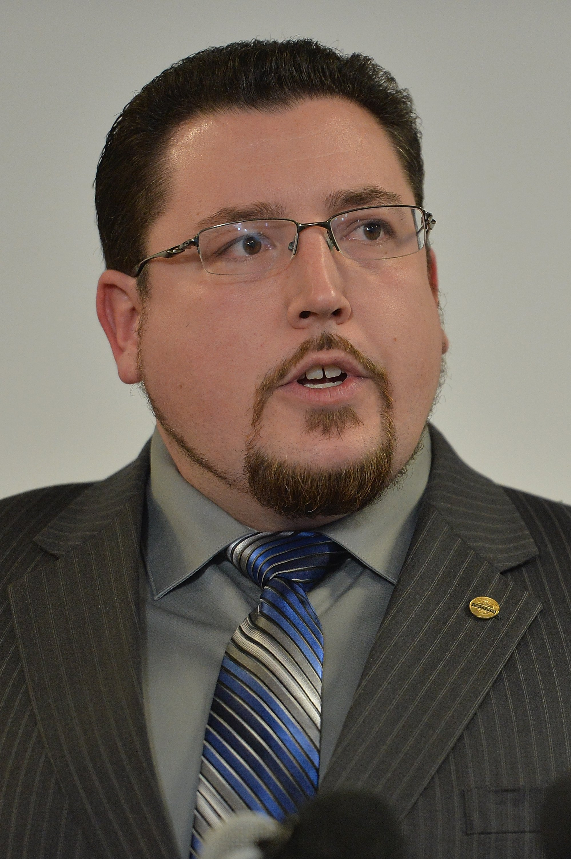 Ferguson Mayor James Knowles speaks at a news conference on the just-released Department of Justice report investigating the city police department on March 4, 2015  in Ferguson.