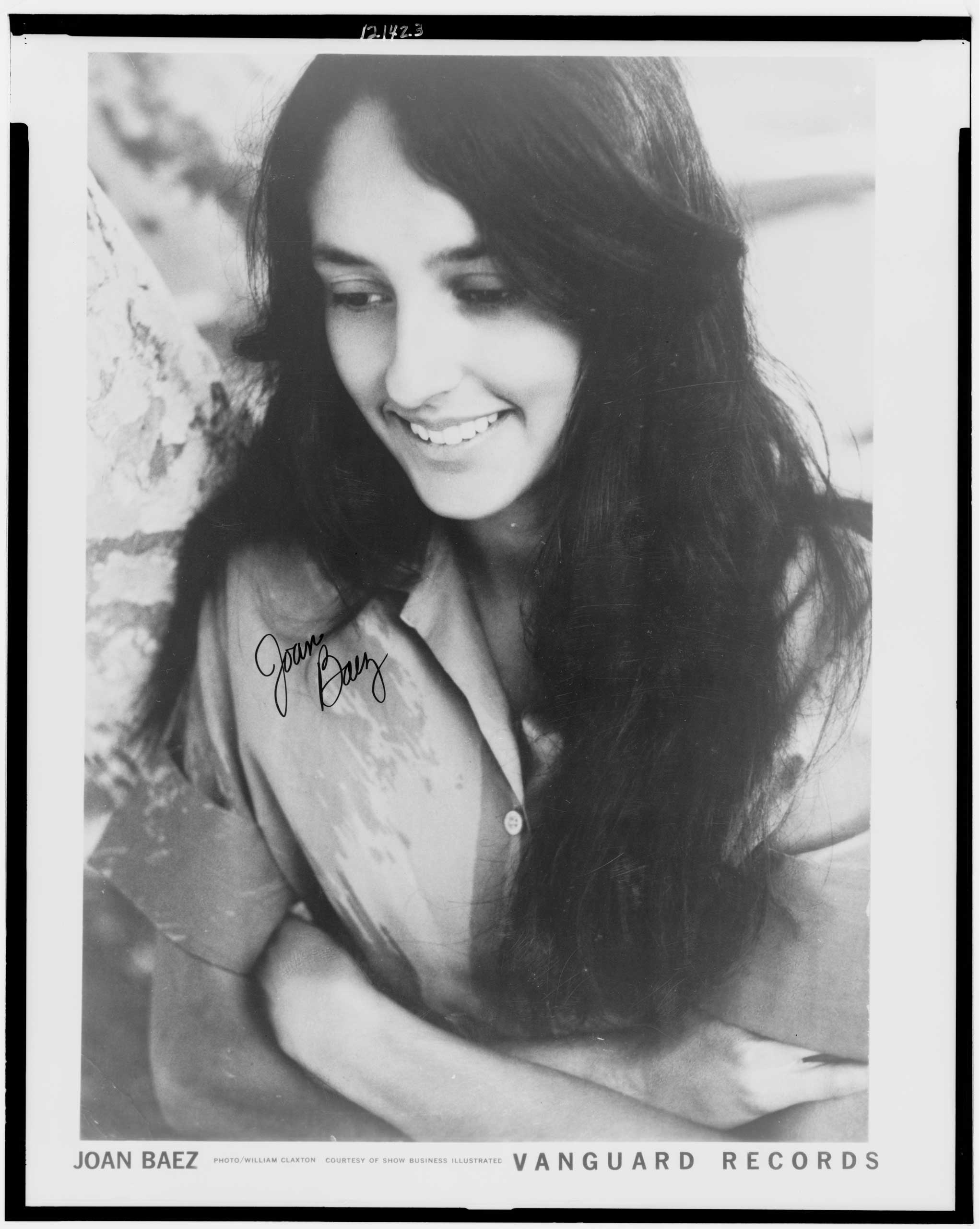 The self-titled debut album of folk singer Joan Baez was a key part of the folk revival movement in the 1960s. (William Claxton—Library of Congress)