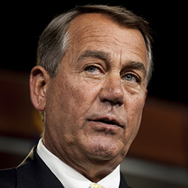 U.S. House Speaker John Boehner, a Republican from Ohio, speaks during his weekly news conference at the Capitol in Washington, D.C., U.S., on Thursday, June 19, 2014. Boehner said terrorism has spread  exponentially  during President Barack Obama's administration and that Obama needs an  overall strategy  to stem the rise of terrorism in the Middle East. Photographer: Pete Marovich/Bloomberg via Getty Images