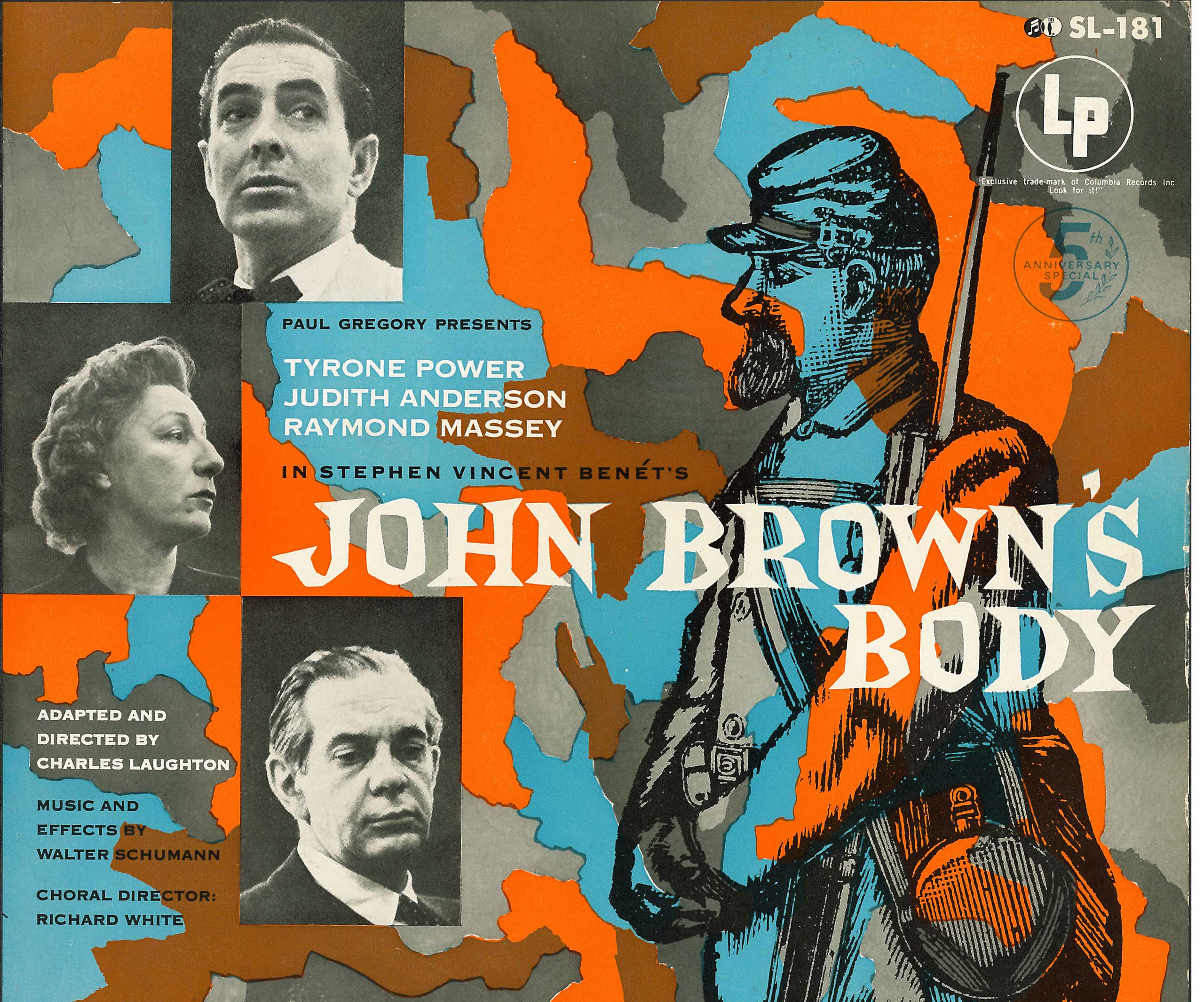 """The 1953 double-album """"John Brown's Body"""" was a landmark recording of a theater project about the Civil War. (Columbia Masterworks/Library of Congress)"""