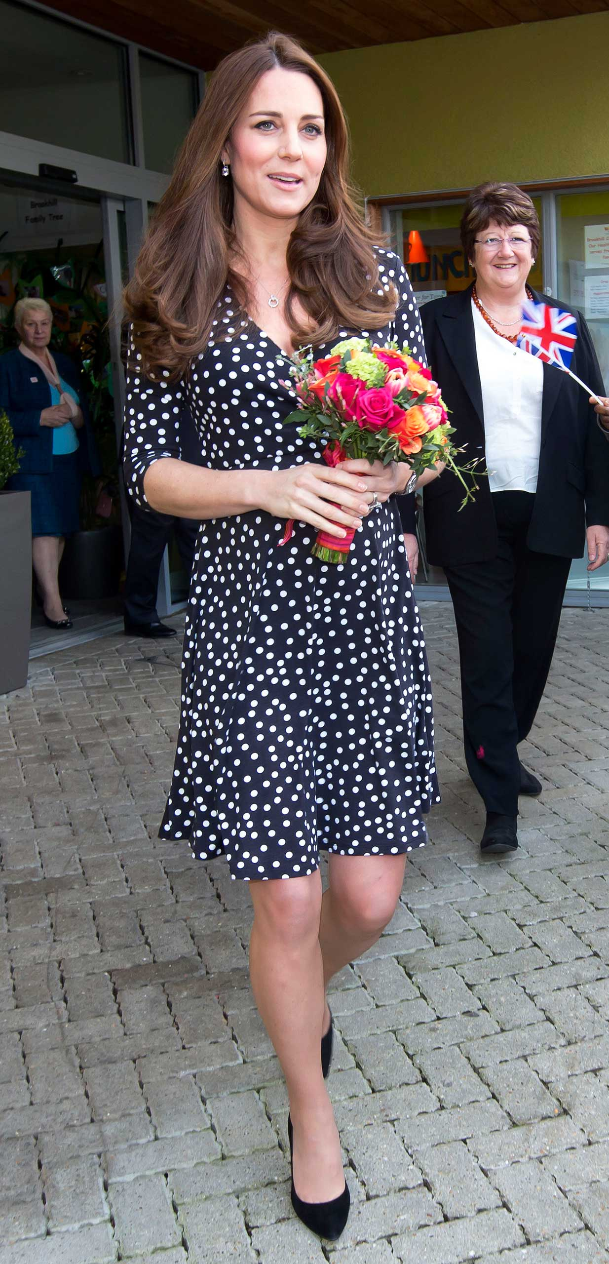 The Duchess of Cambridge visits the Brookhill Children's Centre in Woolwich, London, UK, on March 18, 2015.