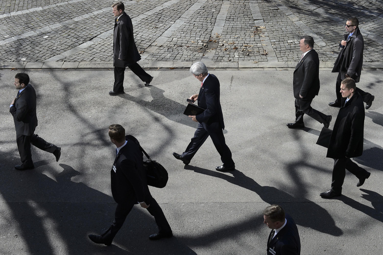 U.S. Secretary of State John Kerry during a break in nuclear talks in Switzerland on Mar. 3.
