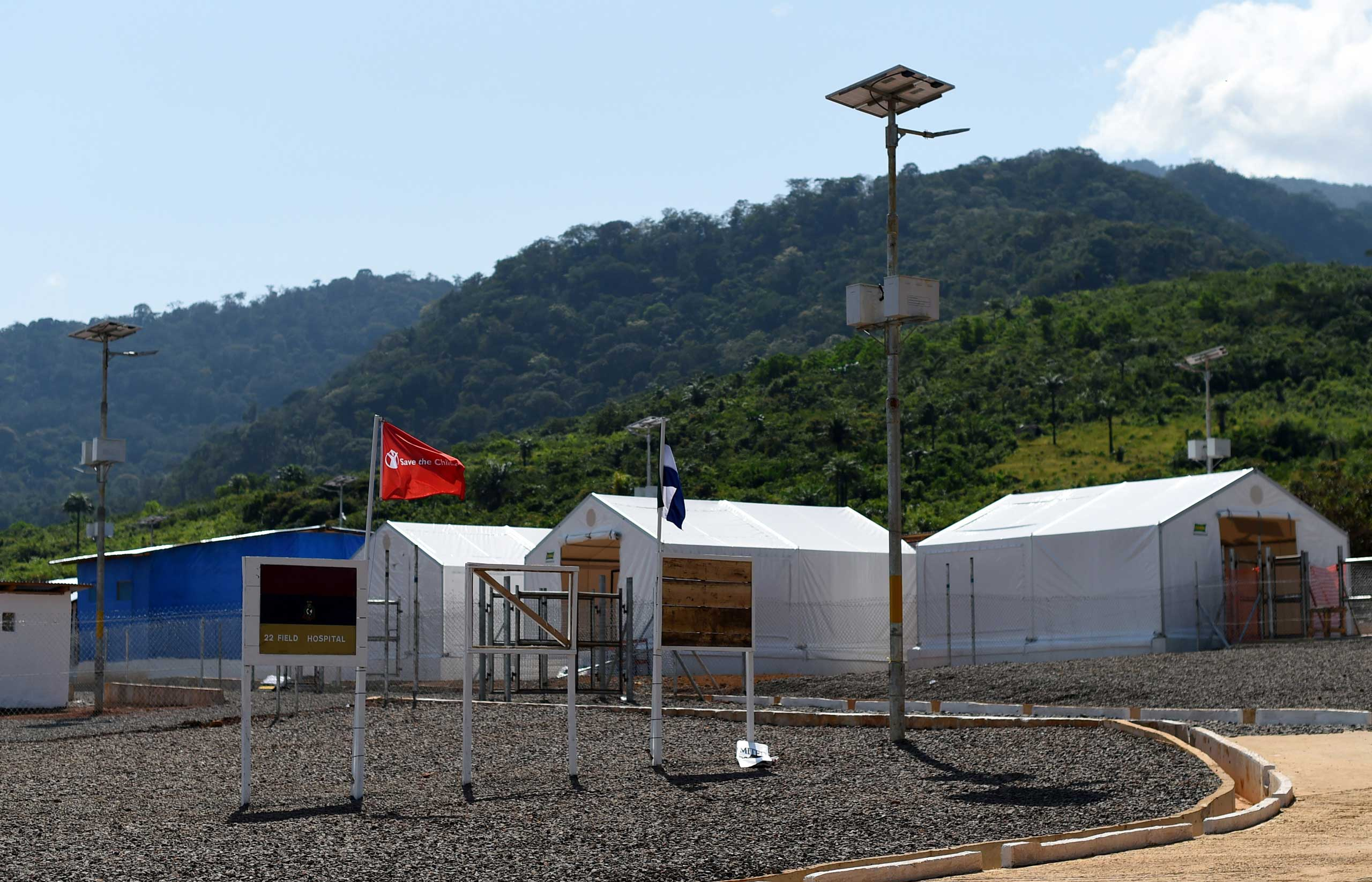 The Kerry Town Ebola treatment center on the outskirts of Freetown, Sierra Leone in 2014.