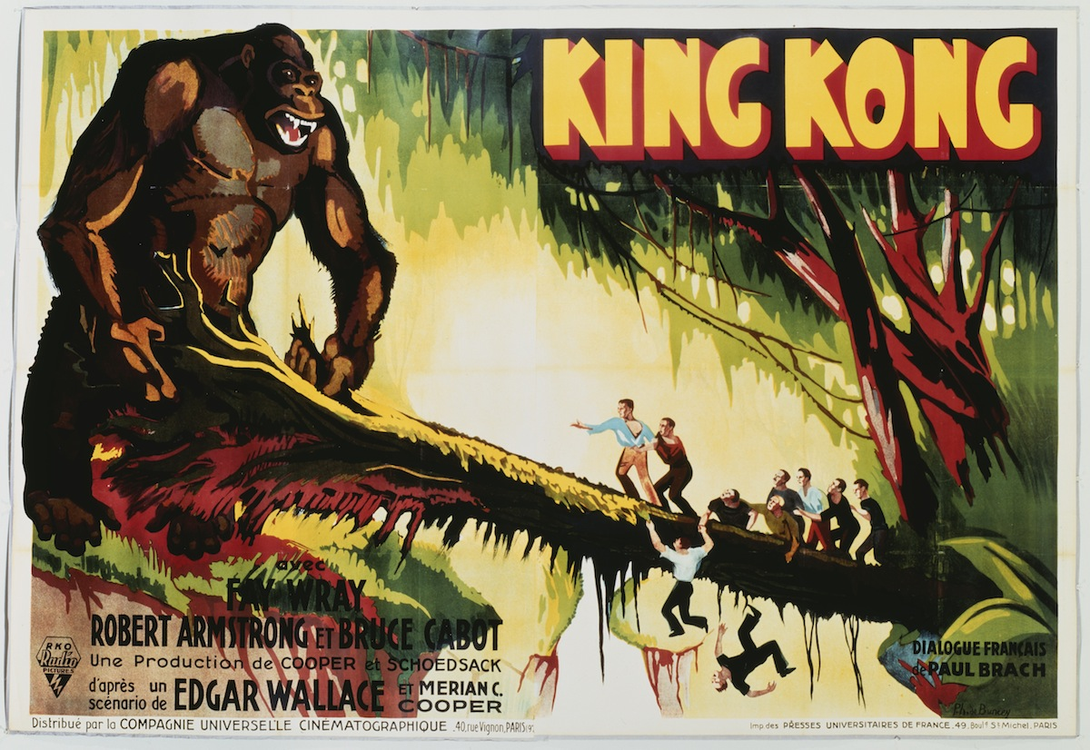A poster for Merian C. Cooper's 1933 'King Kong'