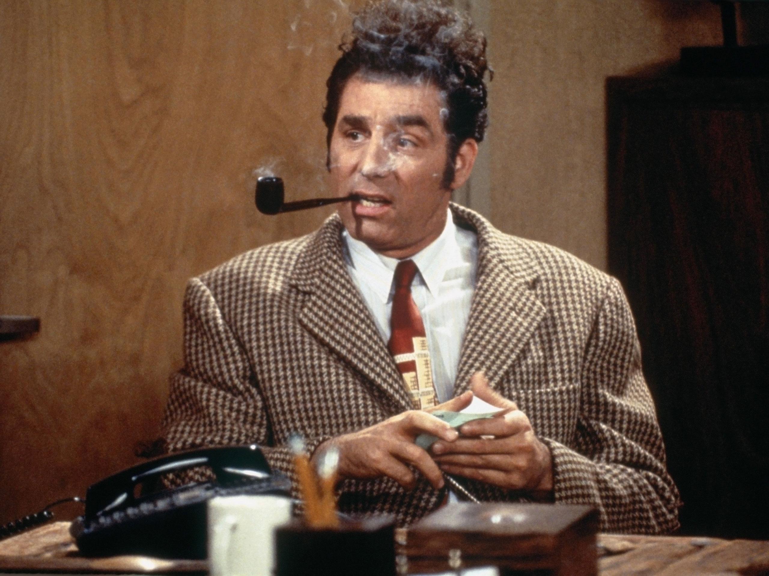 Michael Richards as Cosmo Kramer in the 2006 Seinfeld episode  The Van Buren Boys.