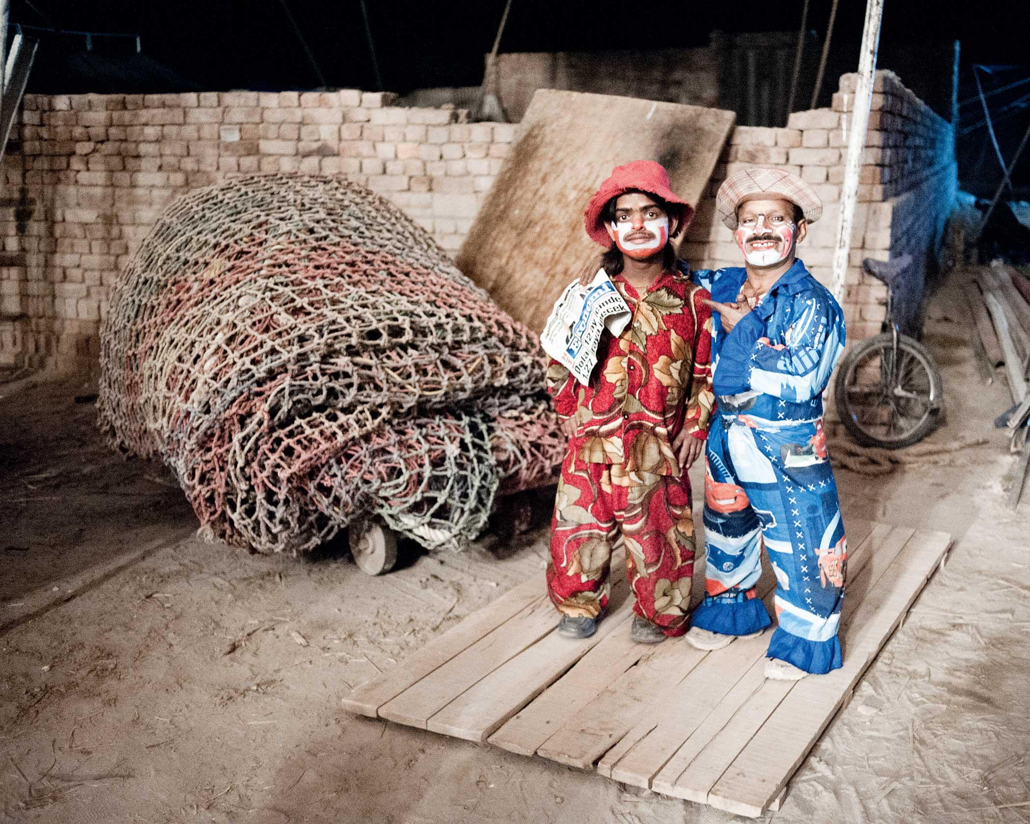 Midget clowns Tareeq & Mohammed
