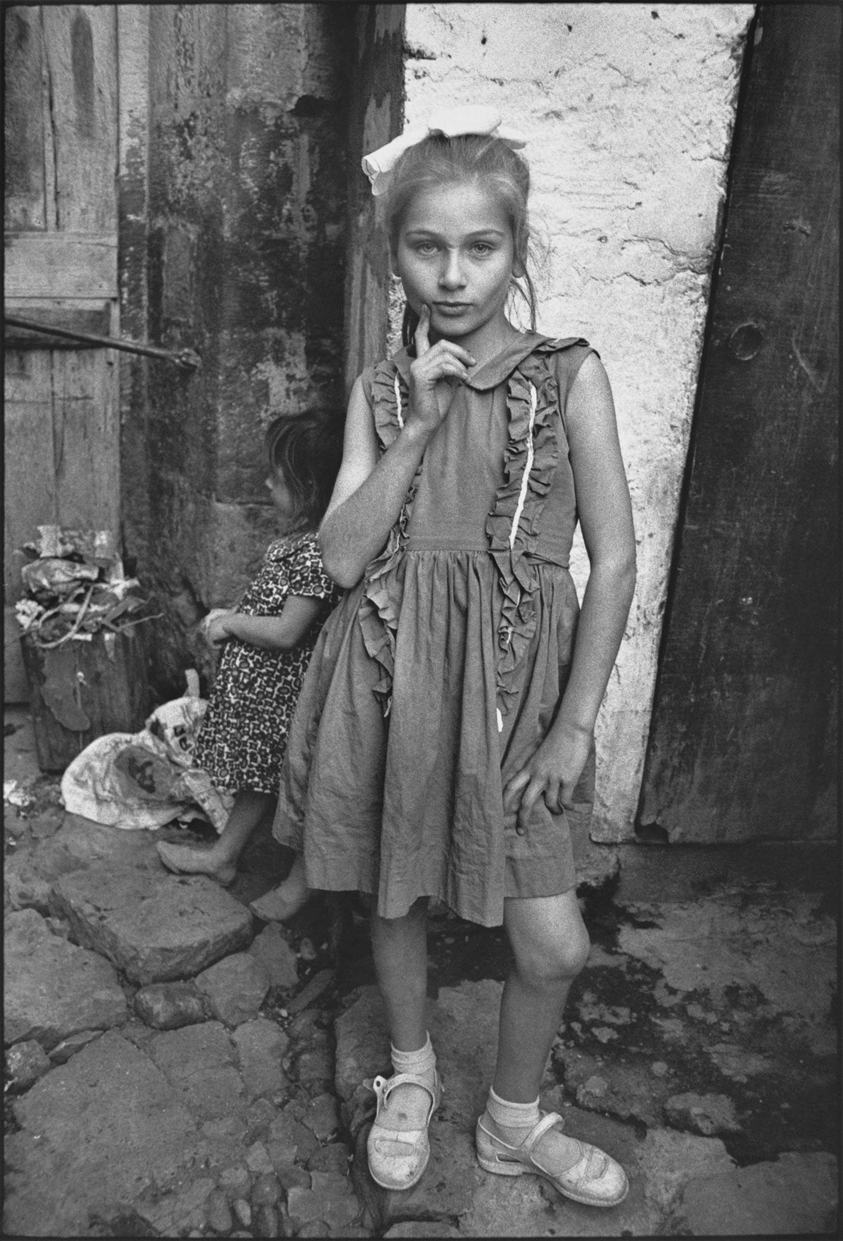 Beautiful Emine posing, Trabzon, Turkey, 1965