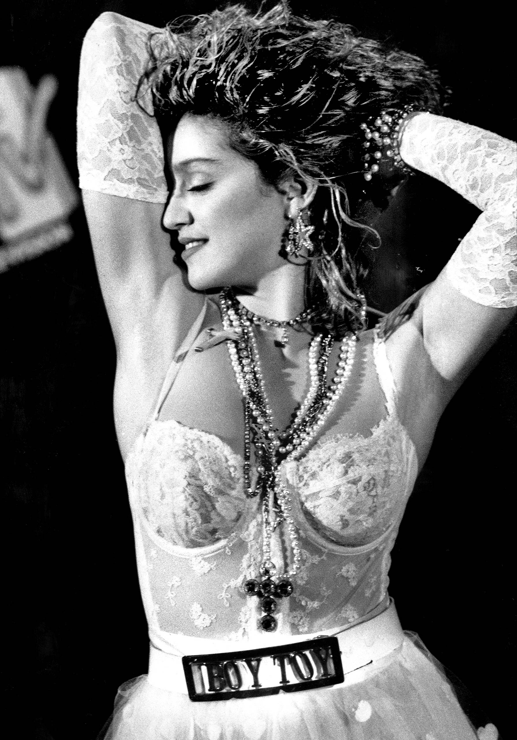 Madonna performs at the MTV Video Awards in 1984.
