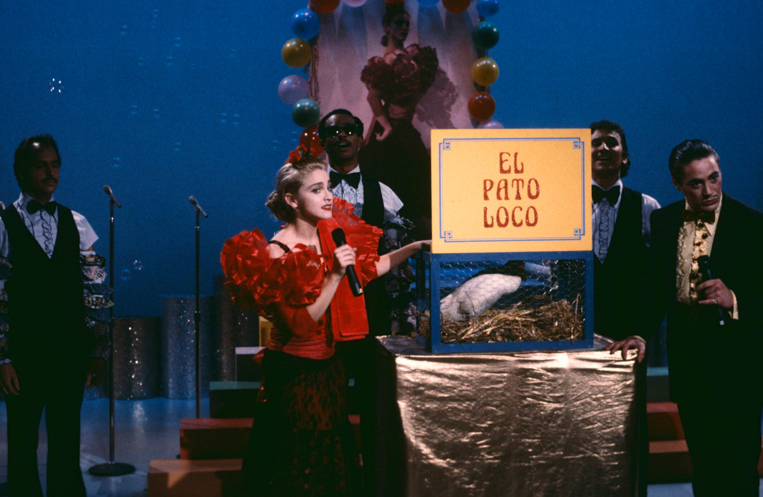 Madonna on <i>Saturday Night Live</i> in 1985.