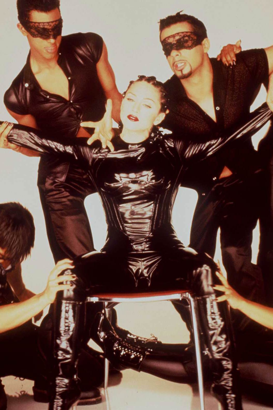 Madonna in her music video for 'Human Nature' in 1995.