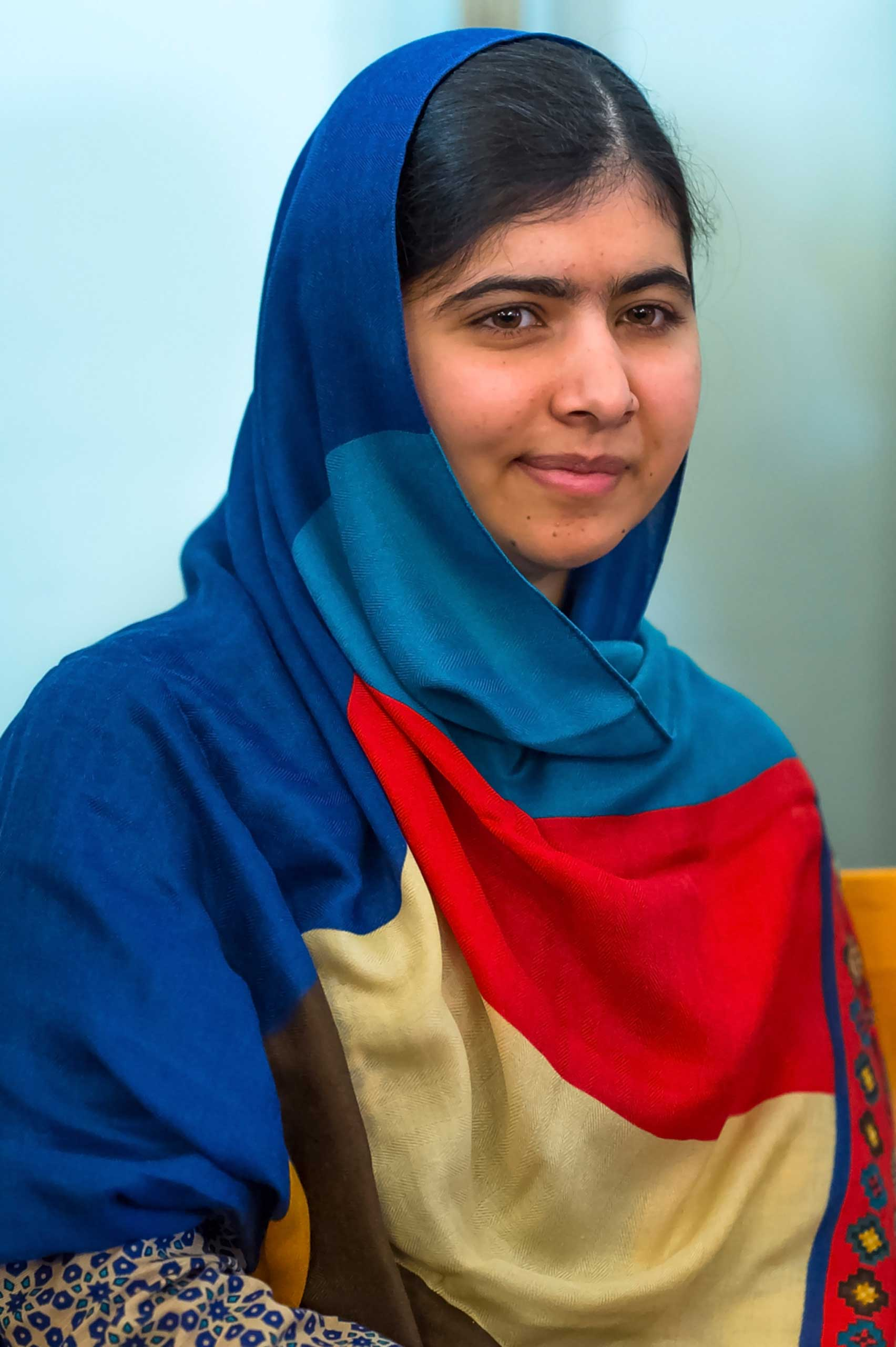 OSLO, NORWAY - DECEMBER 09: Malala Yousafzai attends the Nobel Peace Prize press conference at the Norwegian Nobel Institute  on December 9, 2014 in Oslo, Norway. (Photo by Nigel Waldron/Getty Images)
