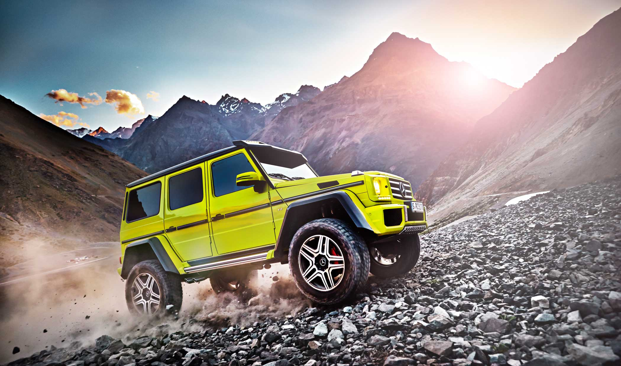 Mercedes-Benz G500 4x42. The preferred ride of oligarchs and dictators is getting supreme off-roading upgrades.