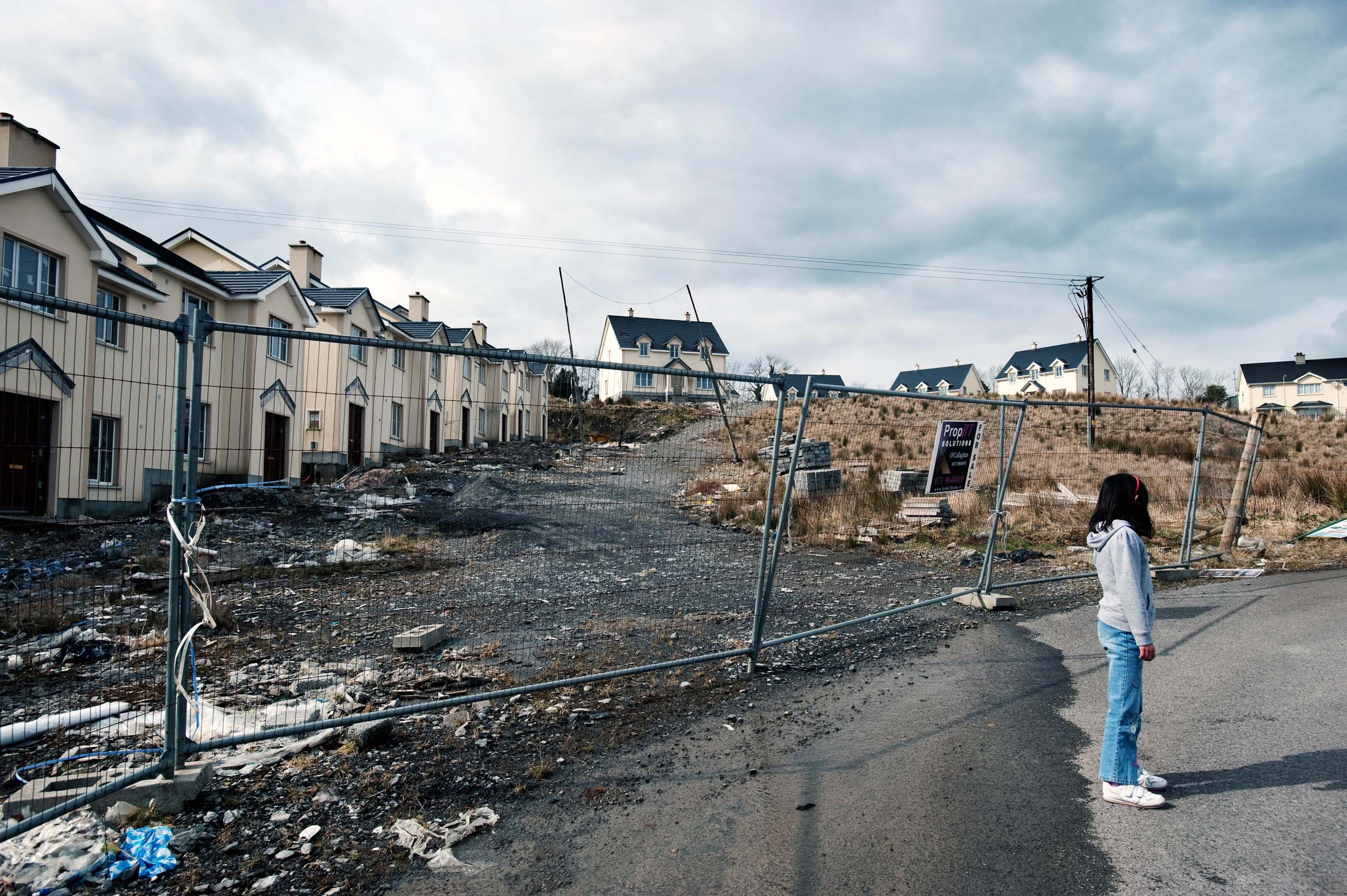 Cnoc Aniuir,  one of six unfinished housing estates on the Carrick-Drumshanbo Road in County Leitrim, Ireland