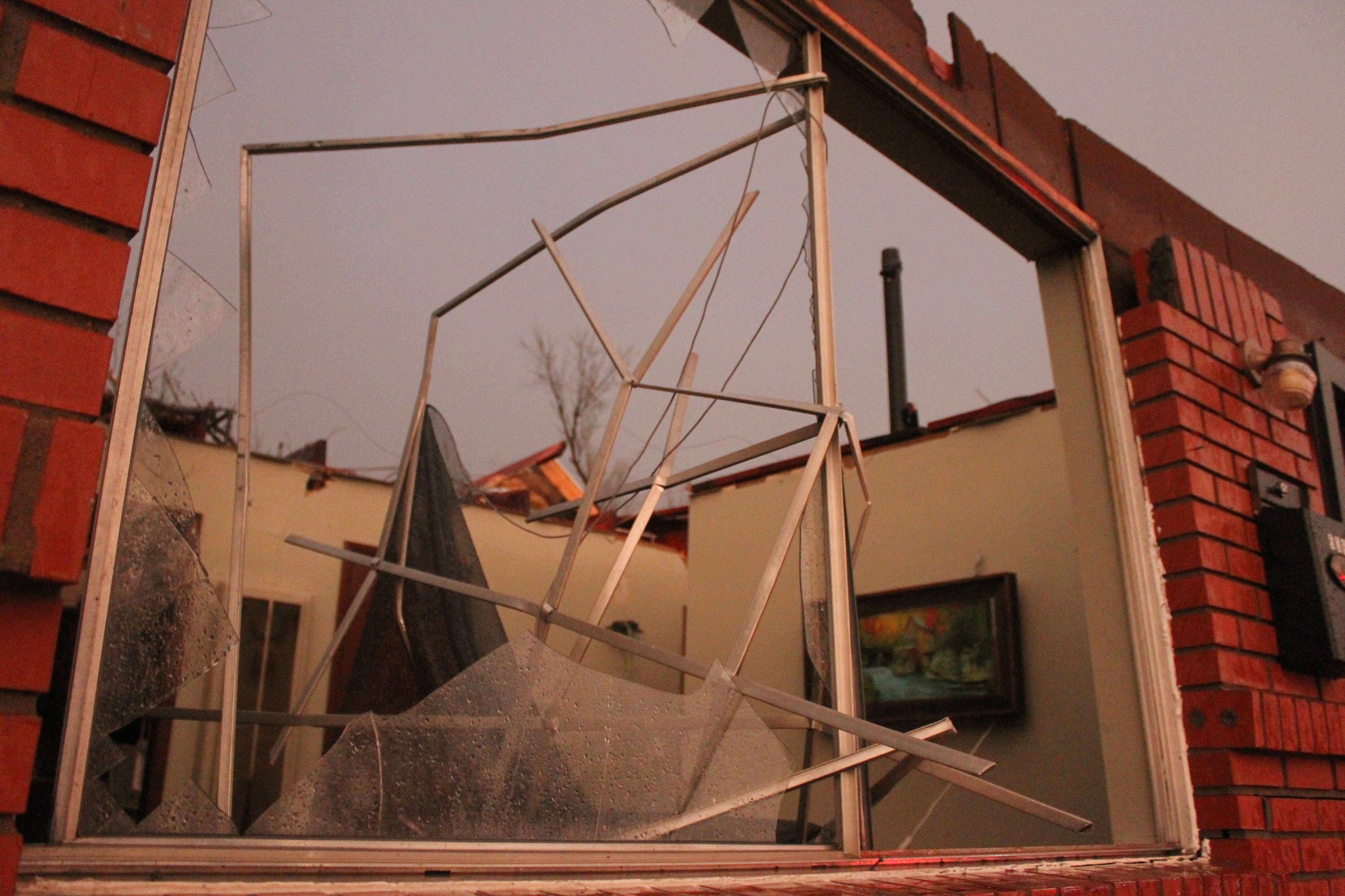 The roof was blown off this home in Moore, Okla. on March 25, 2015.