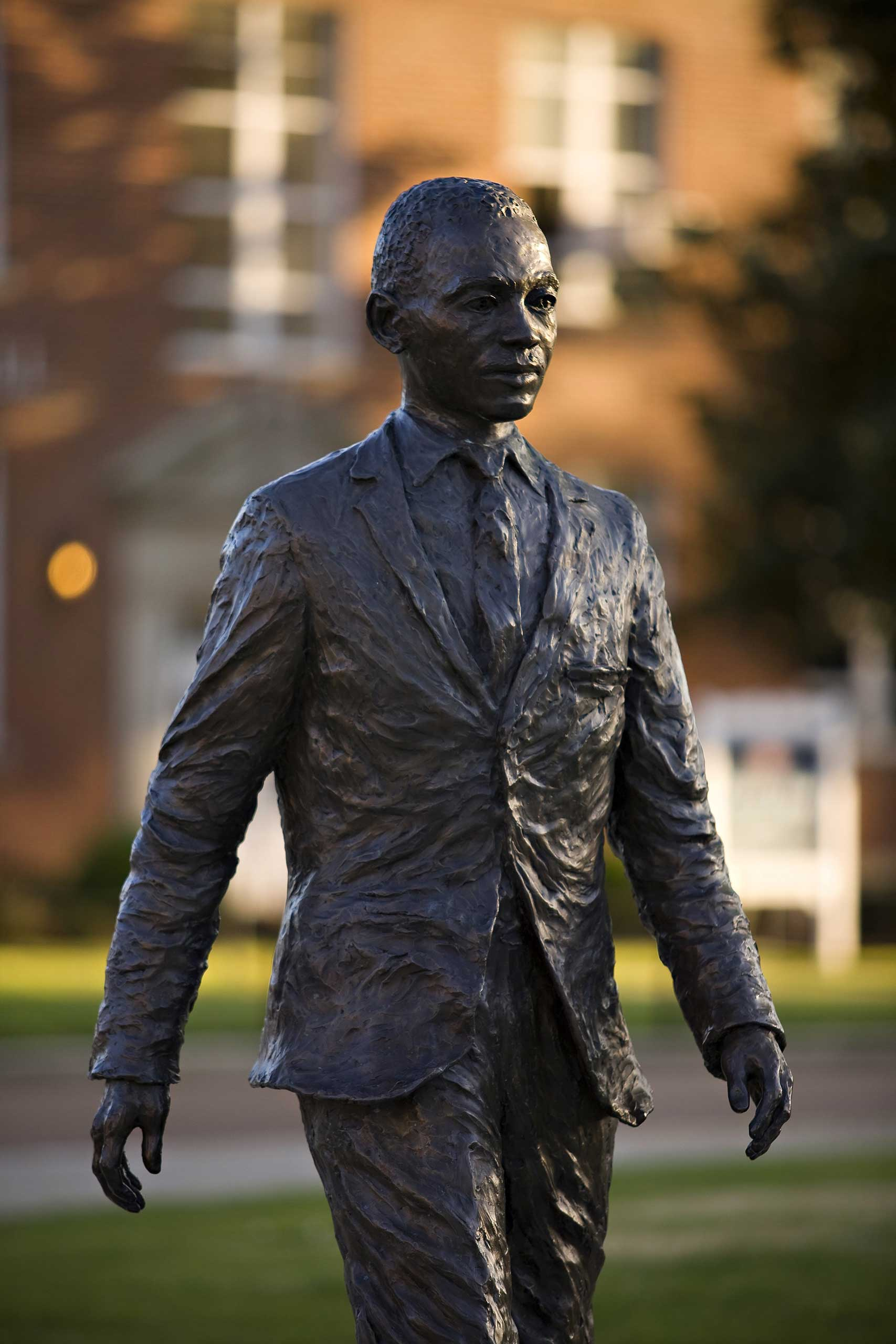 James H. Meredith statue on the campus of  the University of Mississippi on April 12, 2008 in Oxford, Miss.