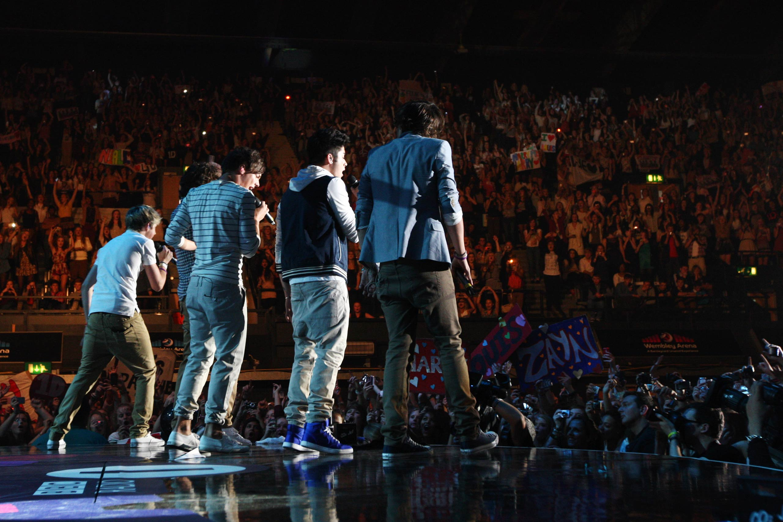 One Direction perform at the BBC Teen Awards at Wembley arena in London, United Kingdom in 2011.