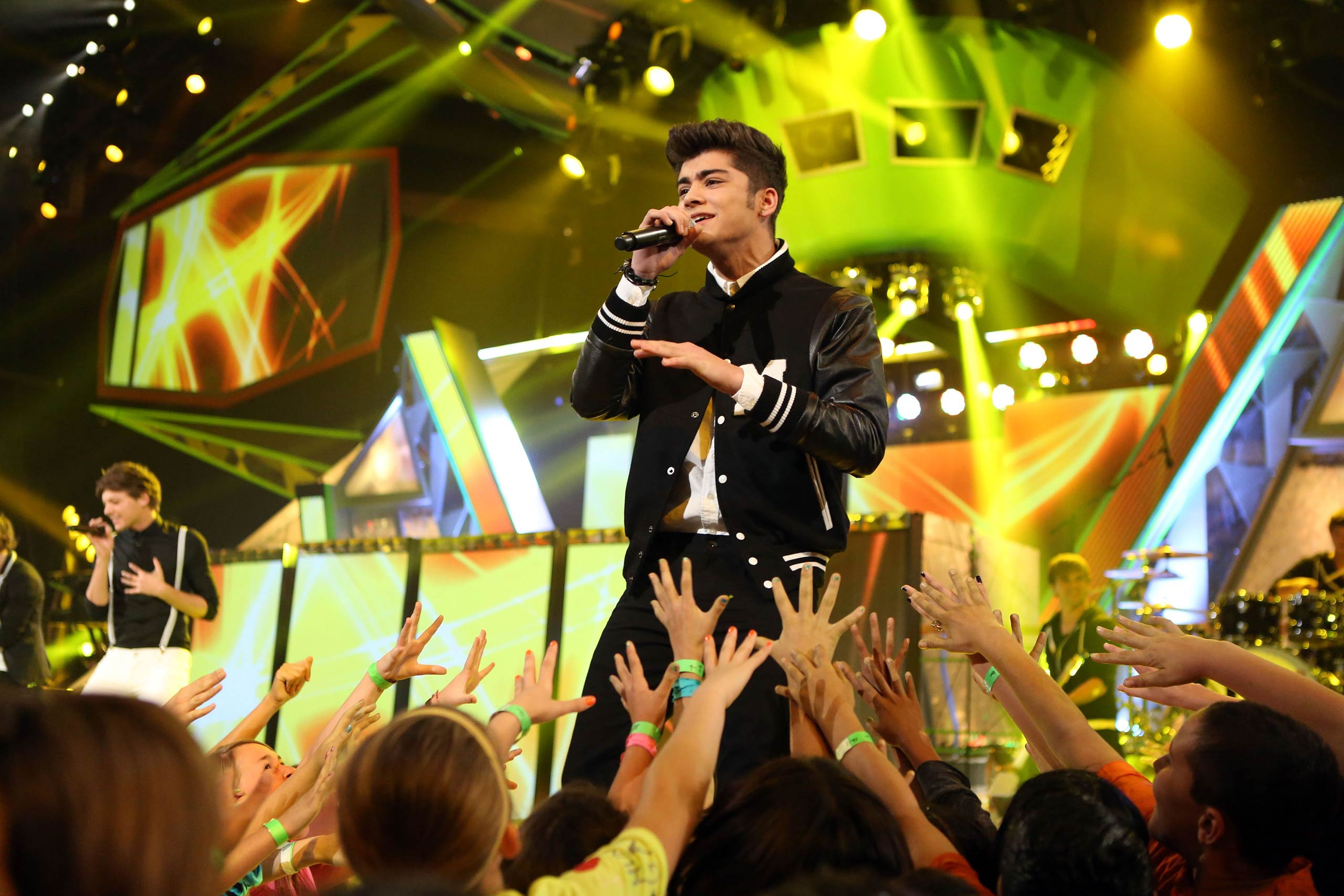 Zayn Malik of One Direction performs at Nickelodeon's 25th Annual Kids' Choice Awards held at Galen Center in Los Angeles, Calif. in 2012.