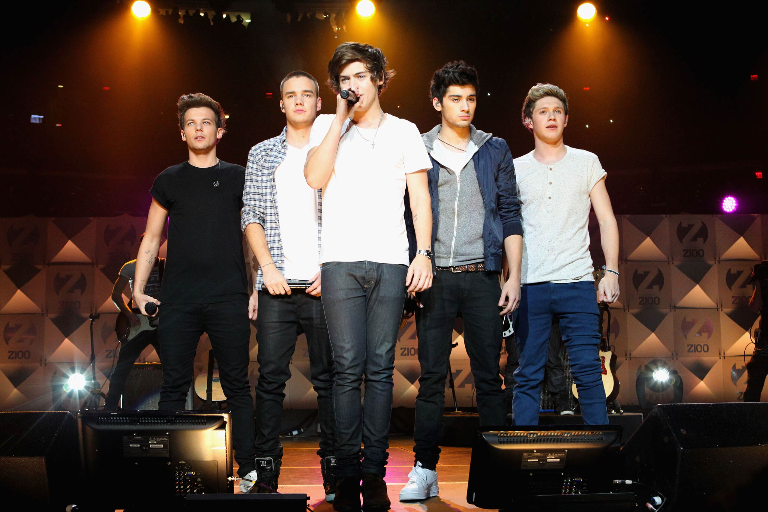 One Direction performs onstage during Z100's Jingle Ball 2012 at Madison Square Garden on in New York City in 2012.