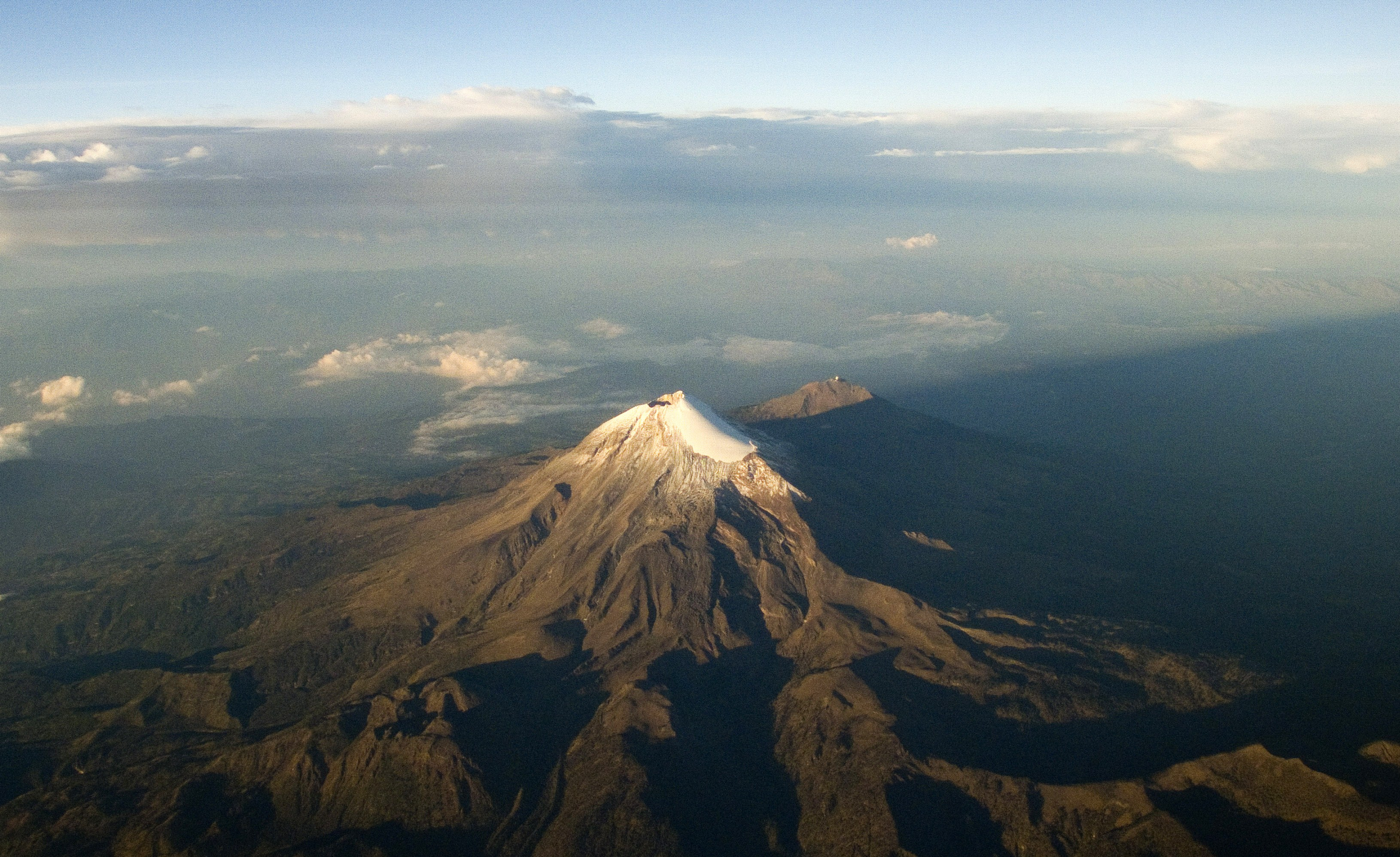 Aereal view of the Citlaltepetl volcano or Pico de Orizaba, the highest mountain in Mexico and the third highest in North America in Veracruz State, Mexico on June 1, 2014.