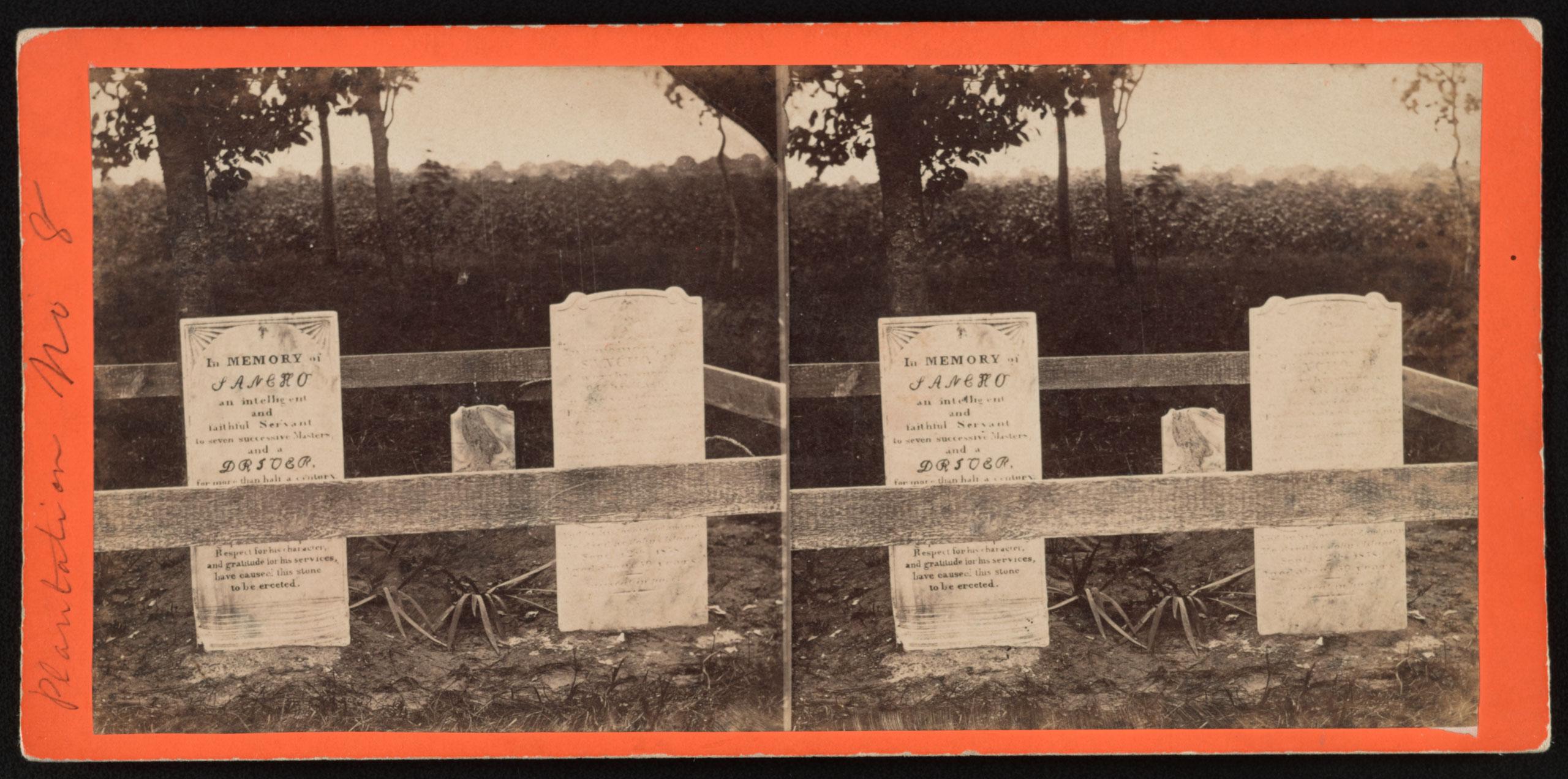 A negro burying ground,  Rockville plantation, Charleston, S.C., January 1863.