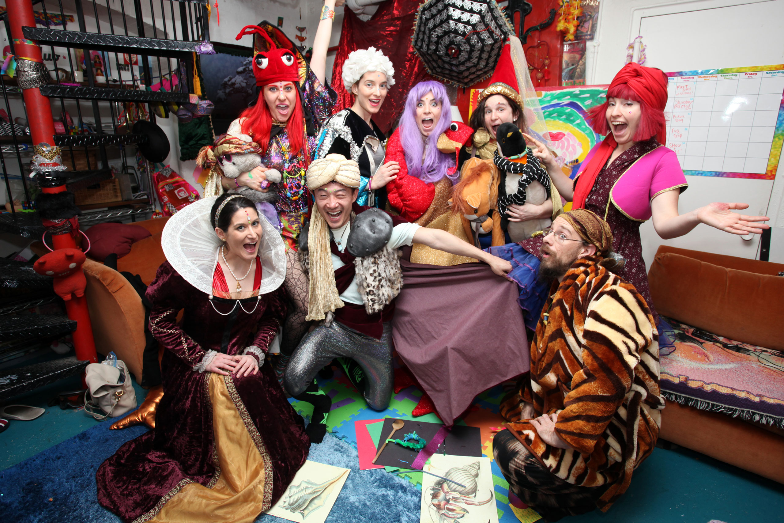 Students of the Adult Pre School take part in dressing up on March 10, 2015 in Brooklyn, New York City.