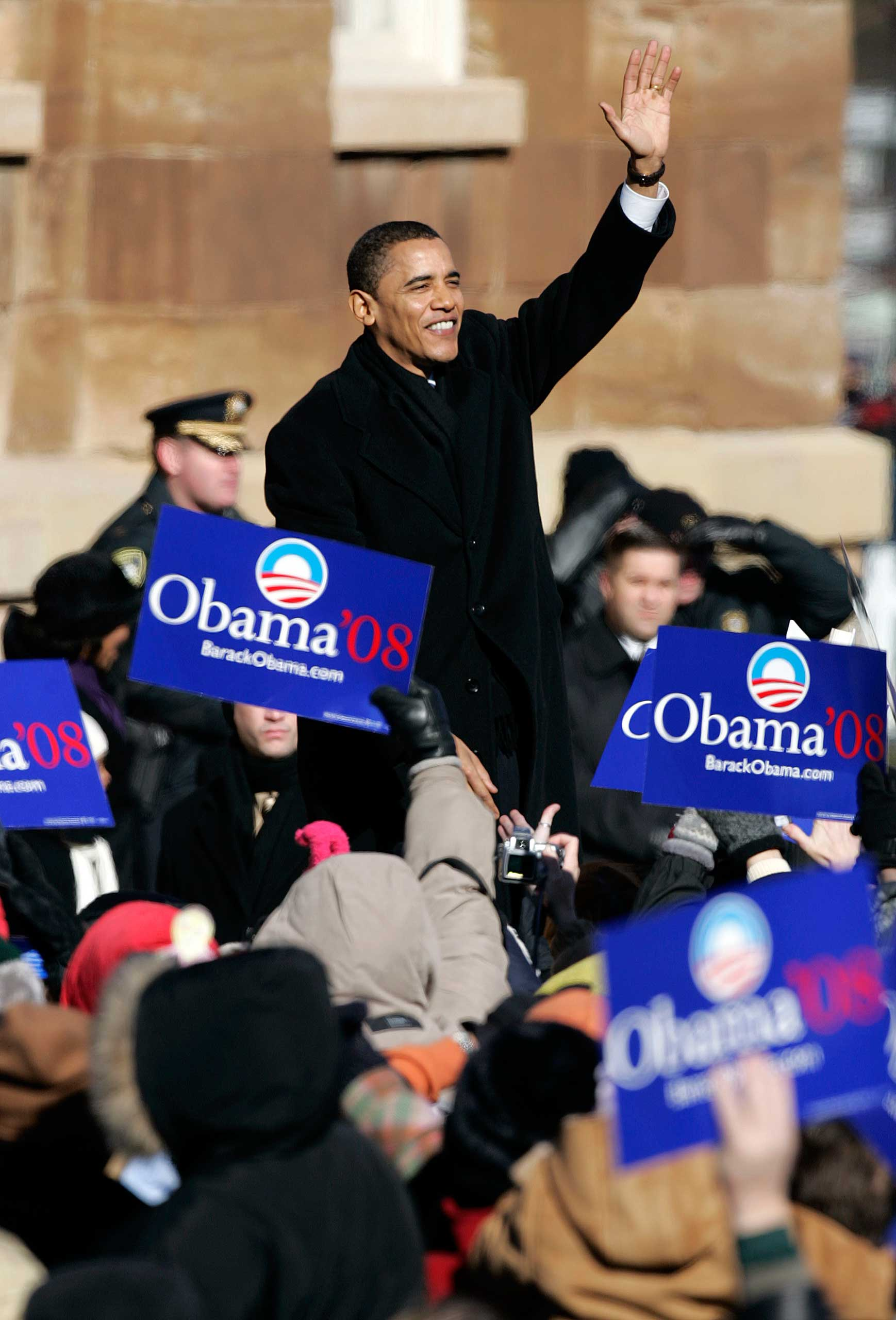 Barack Obama launched his campaign before the Old State Capitol in Springfield, Ill., on Feb. 10, 2007, with a speech that referenced Abraham Lincoln.
