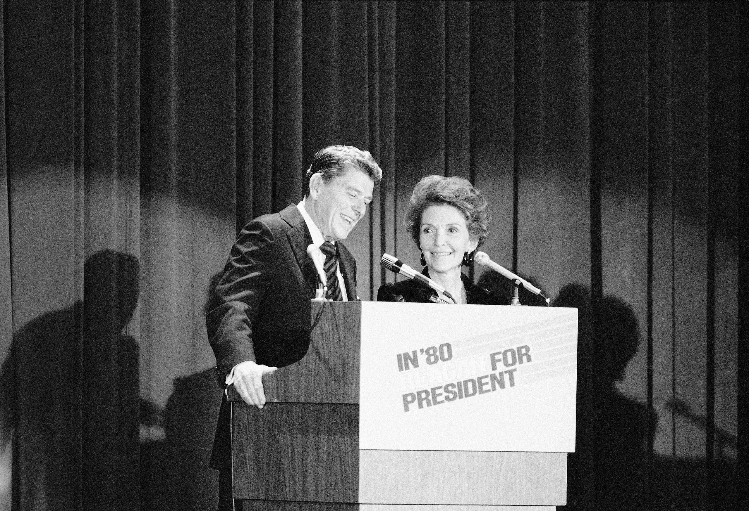 Ronald Reagan launched his presidential campaign on Nov. 13, 1979,in  New York City with a speech about the role of government.
