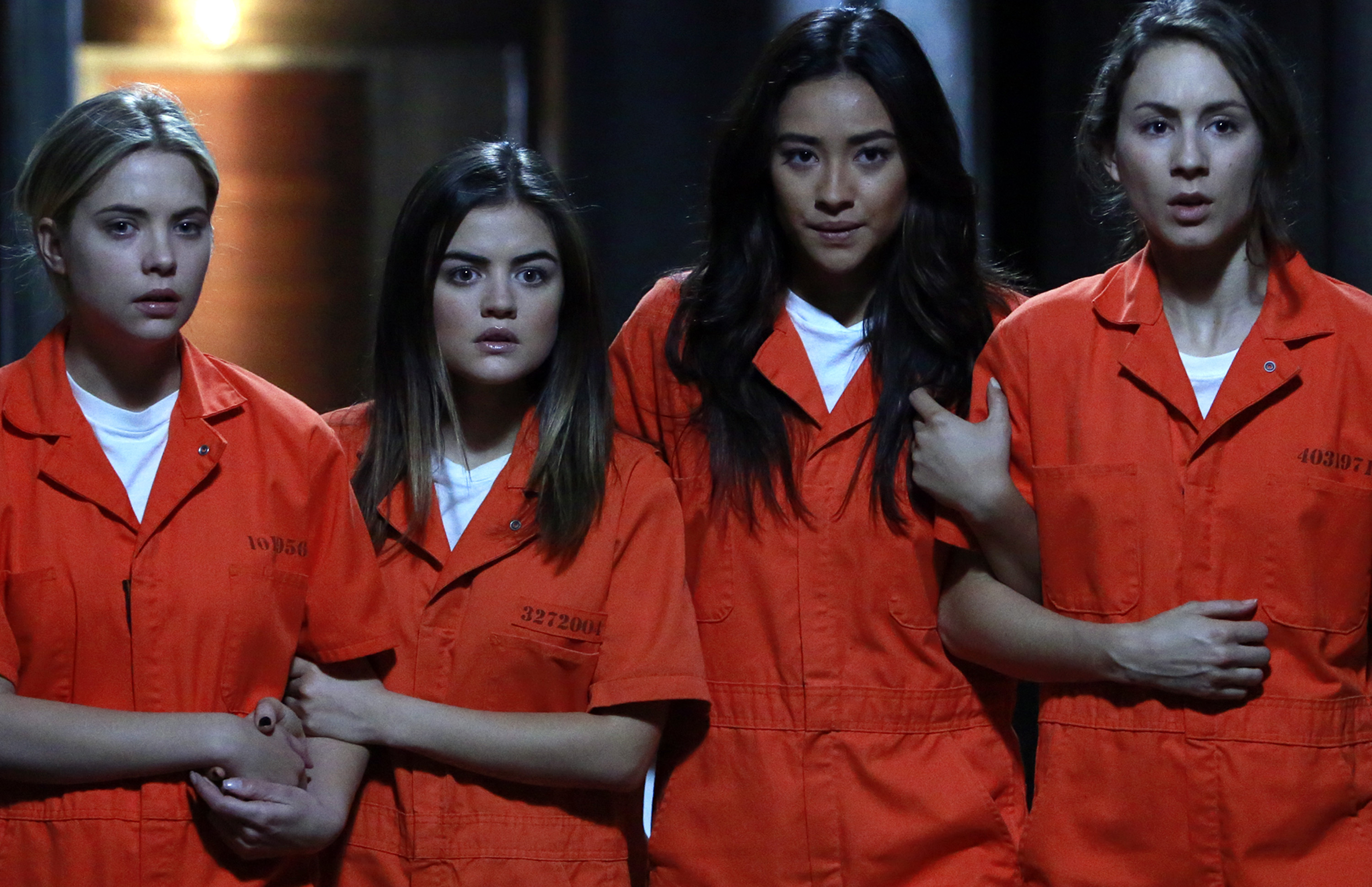 A scene from 'Welcome to the Dollhouse,' the season finale of Pretty Little Liars that premiered on March 24, 2015.