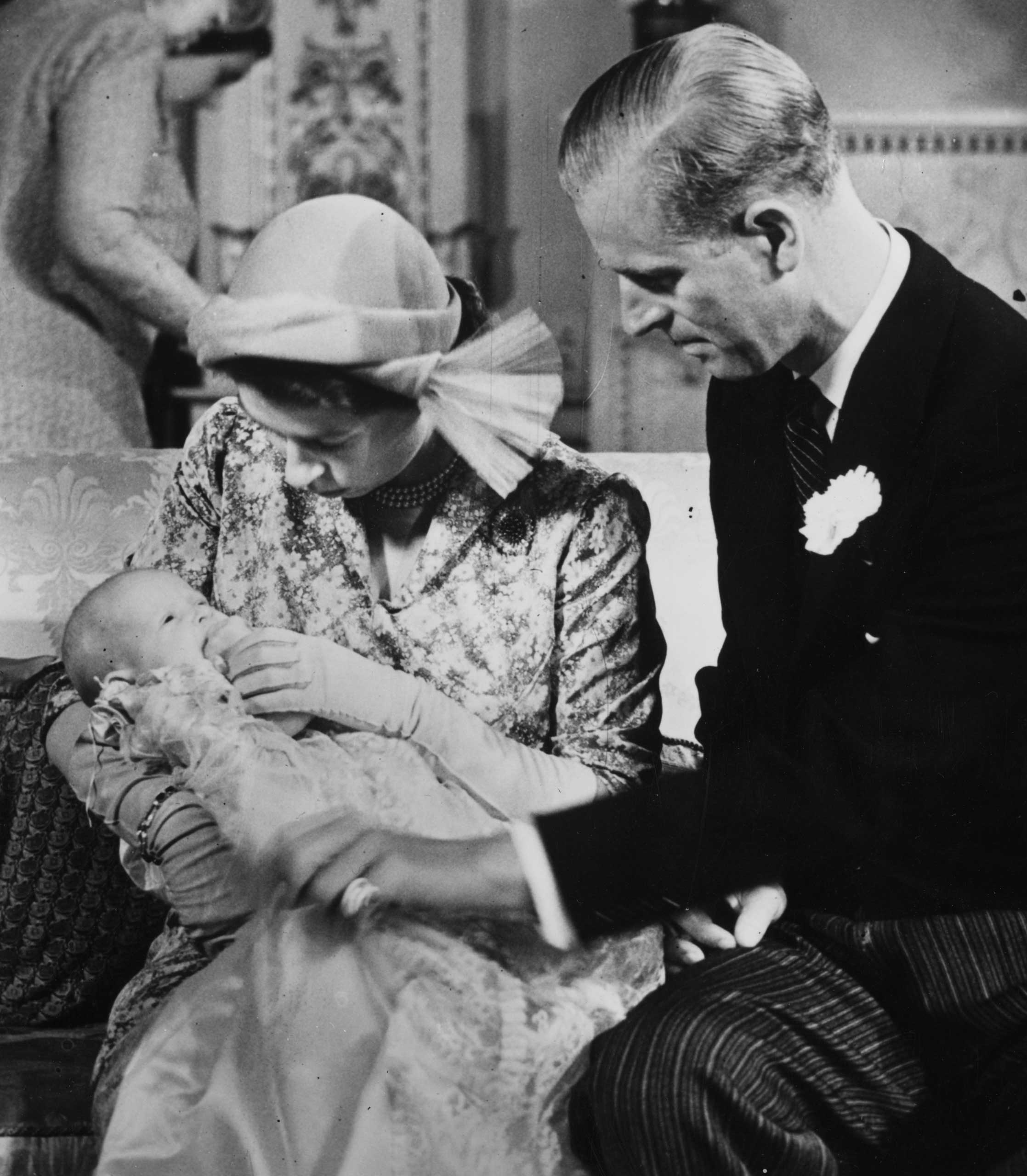Princess Anne, second child of Princess Elizabeth and Prince Philip, pictured at her 1950 christening, must have been born with horse sense. She won a gold and two silver medals at European equestrian competitions and rode for the U.K. in the 1976 Olympics.