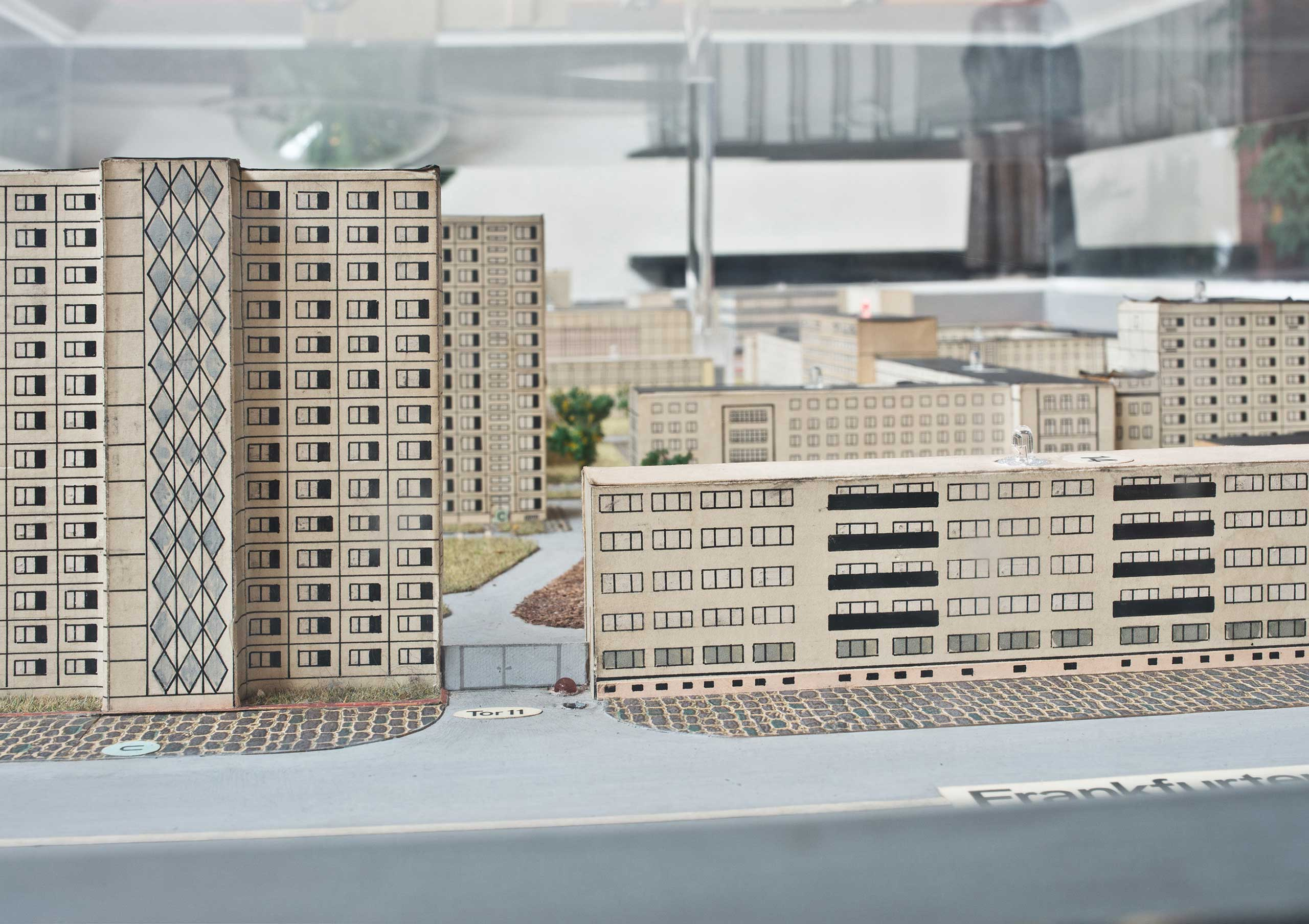 Model of the Stasi headquarters in the 1980s. This model is today in the foyer of the Stasi Museum in Normannenstraße in Berlin.