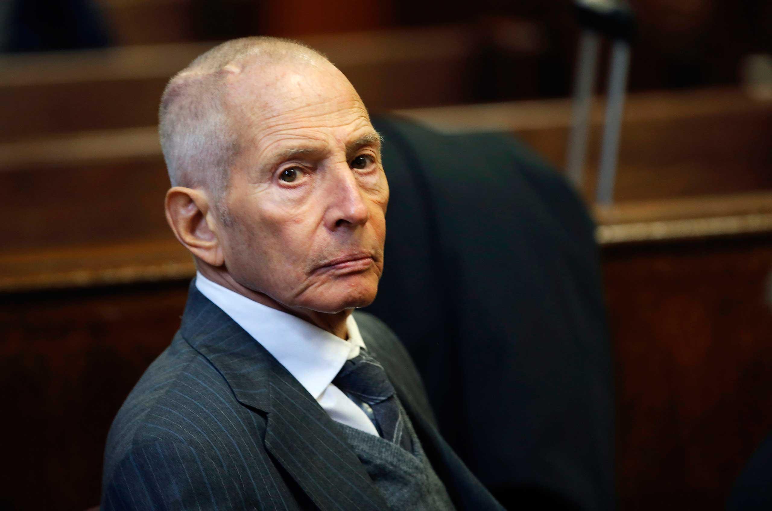 Robert Durst appears in court in New York, Dec. 2014